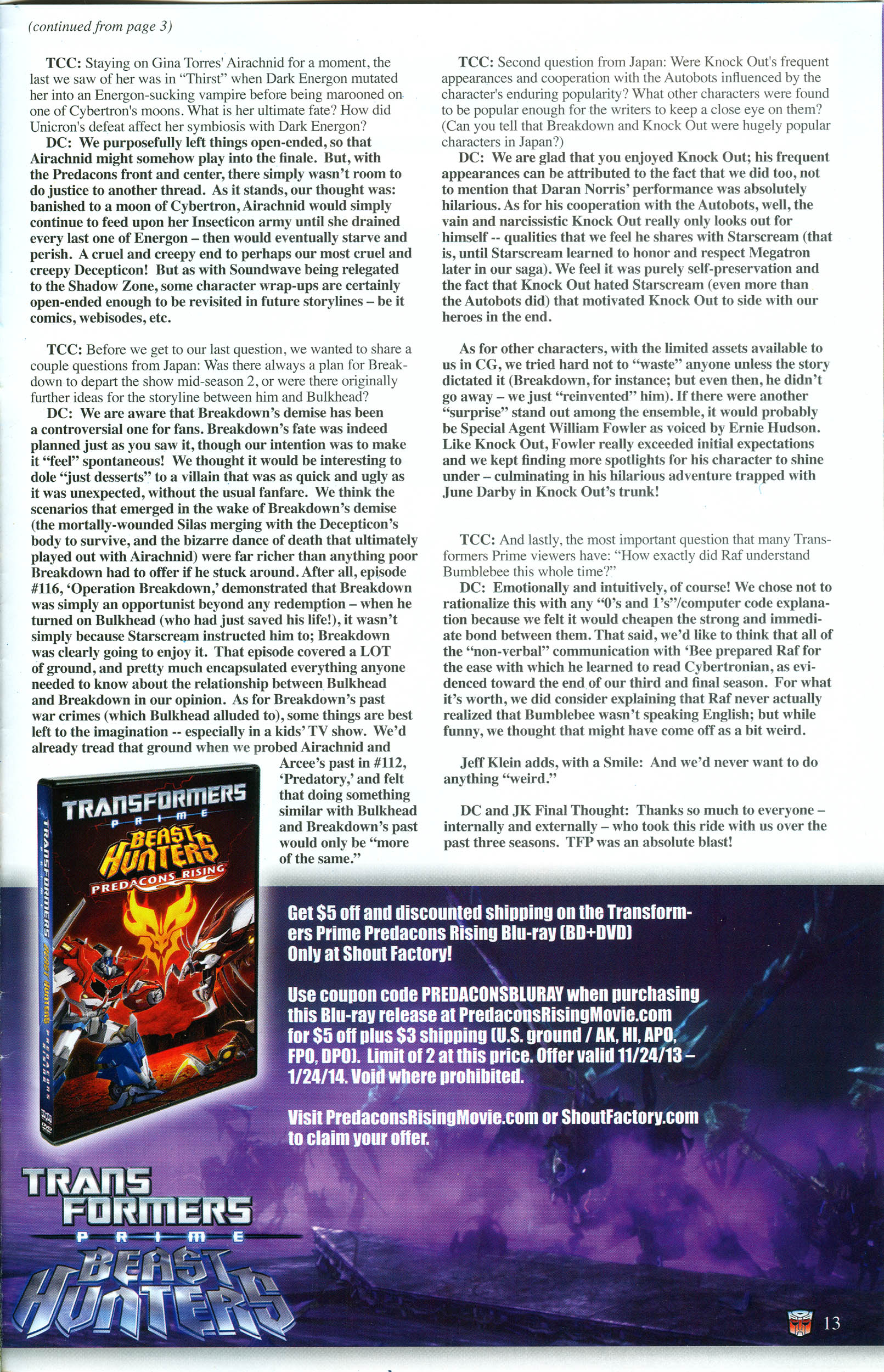 Read online Transformers: Collectors' Club comic -  Issue #54 - 13