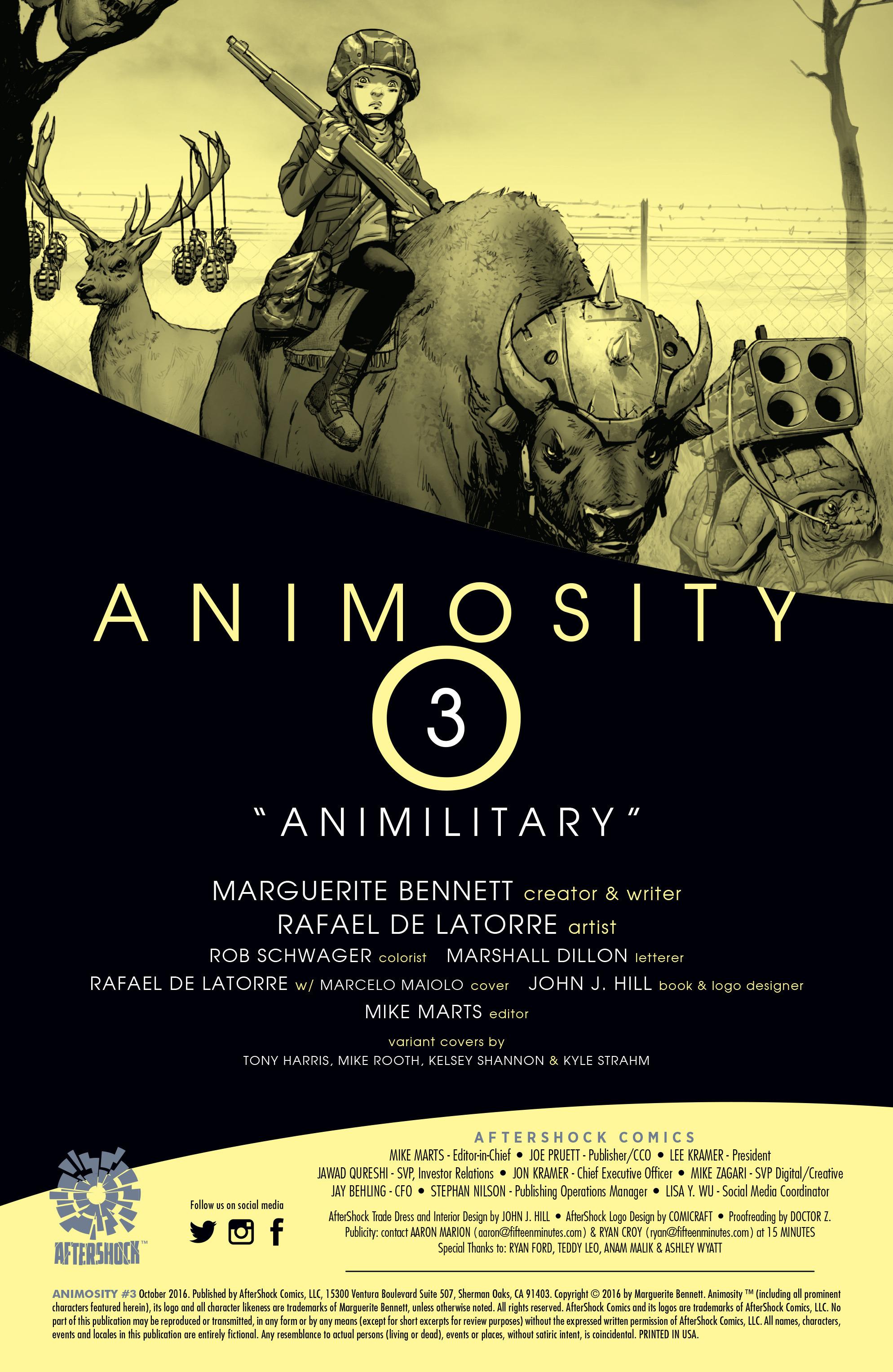 Read online Animosity comic -  Issue #3 - 2