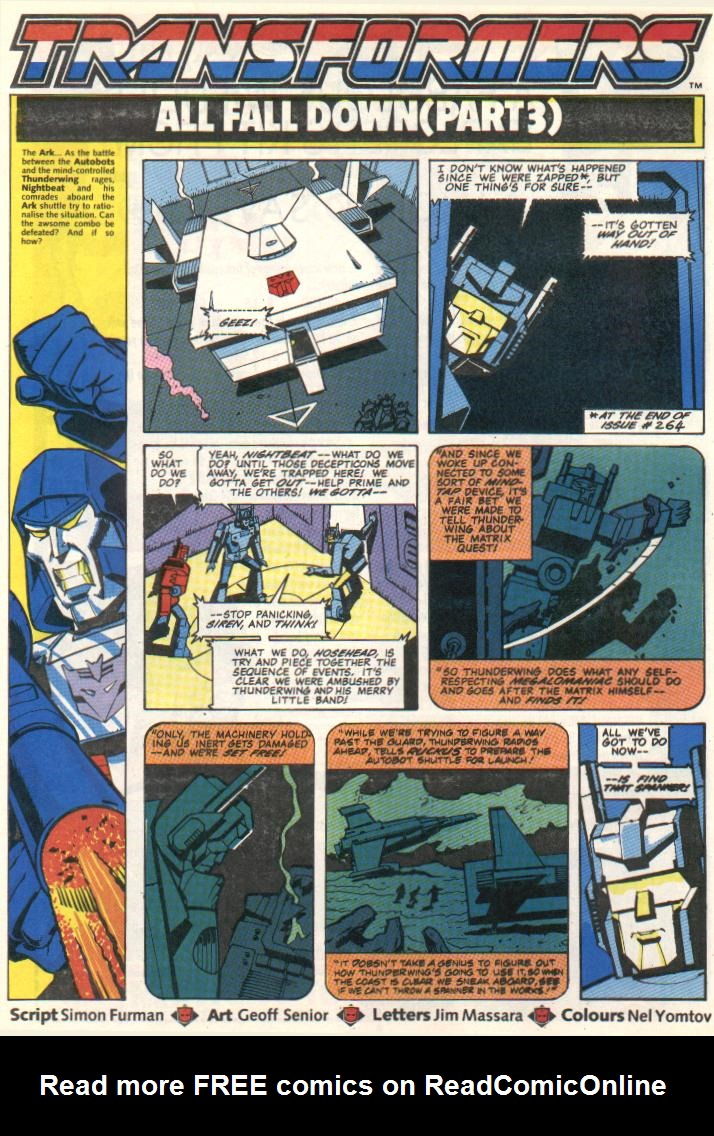 The Transformers (UK) 296 Page 1