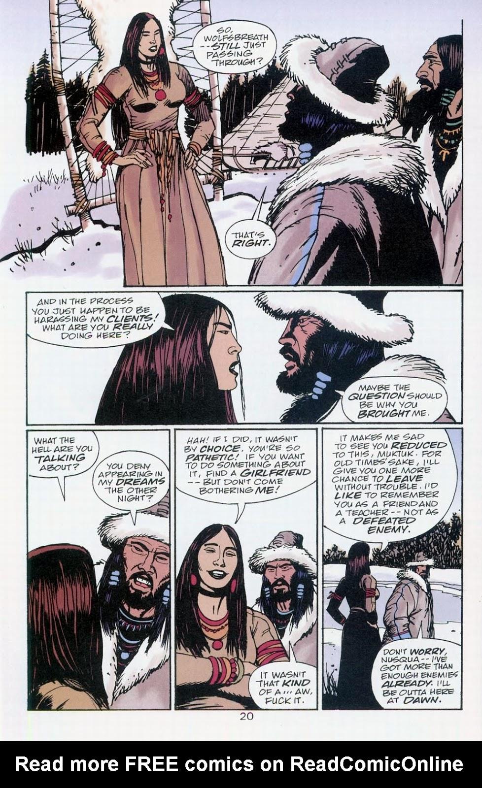 Muktuk Wolfsbreath: Hard-Boiled Shaman issue 1 - Page 20
