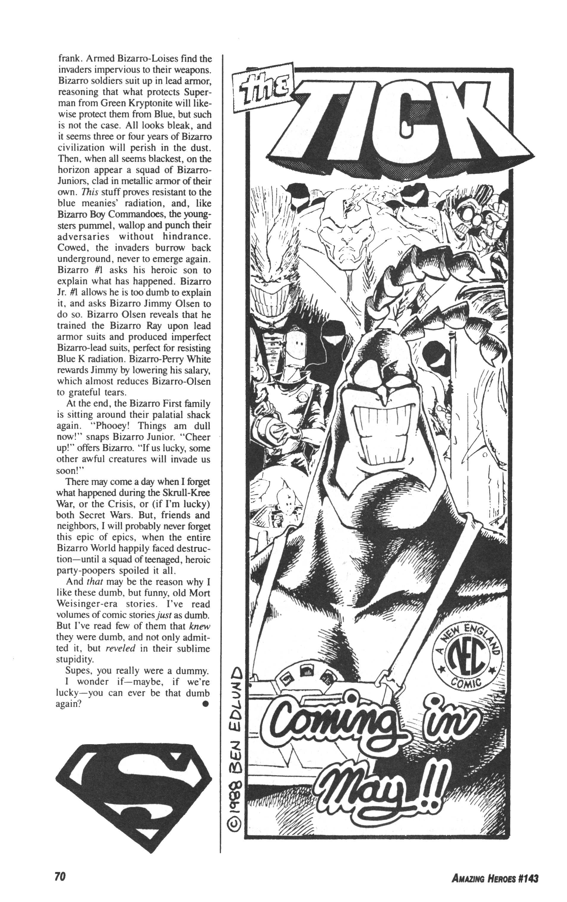 Read online Amazing Heroes comic -  Issue #143 - 70