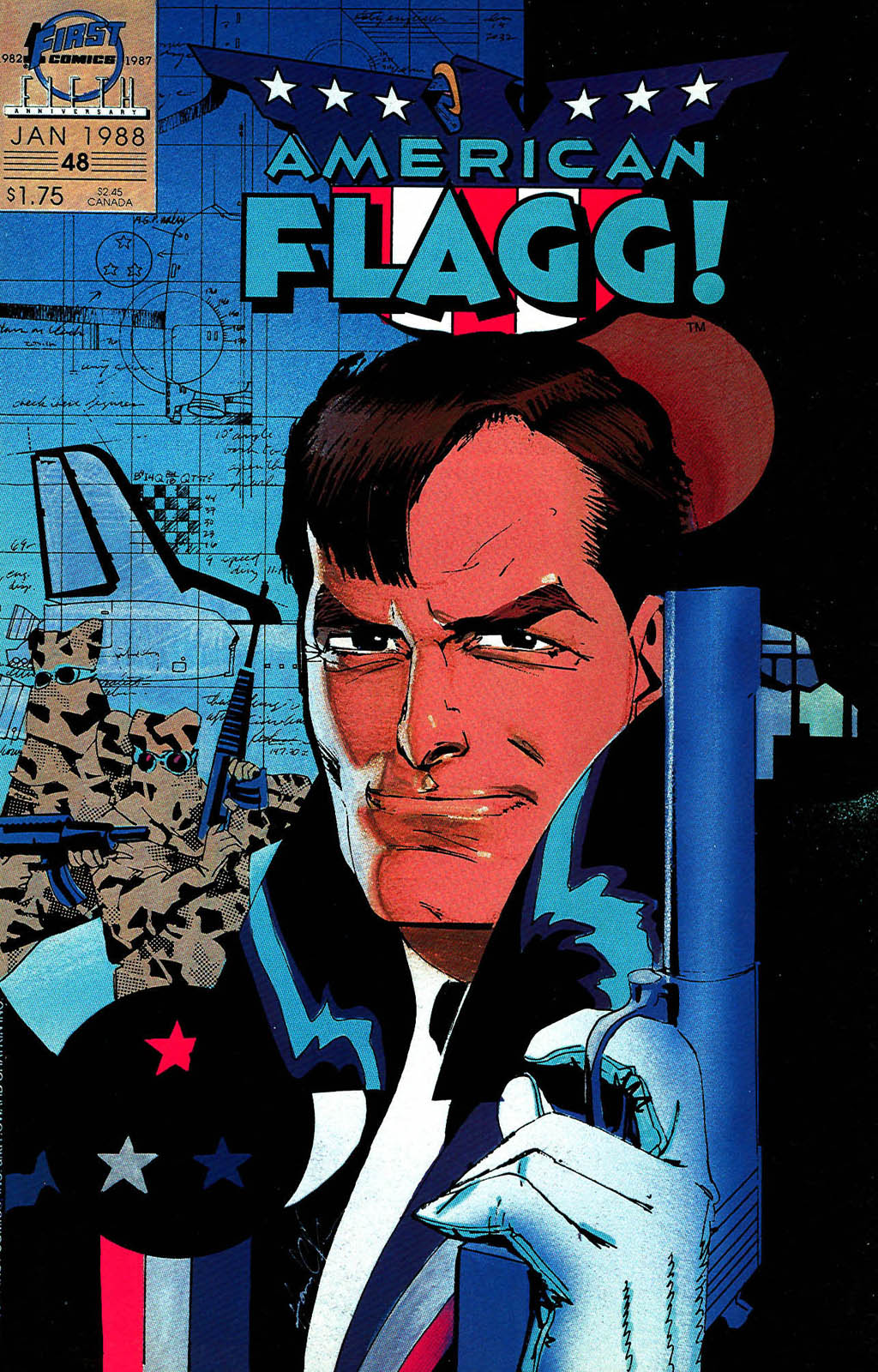 Read online American Flagg! comic -  Issue #48 - 1
