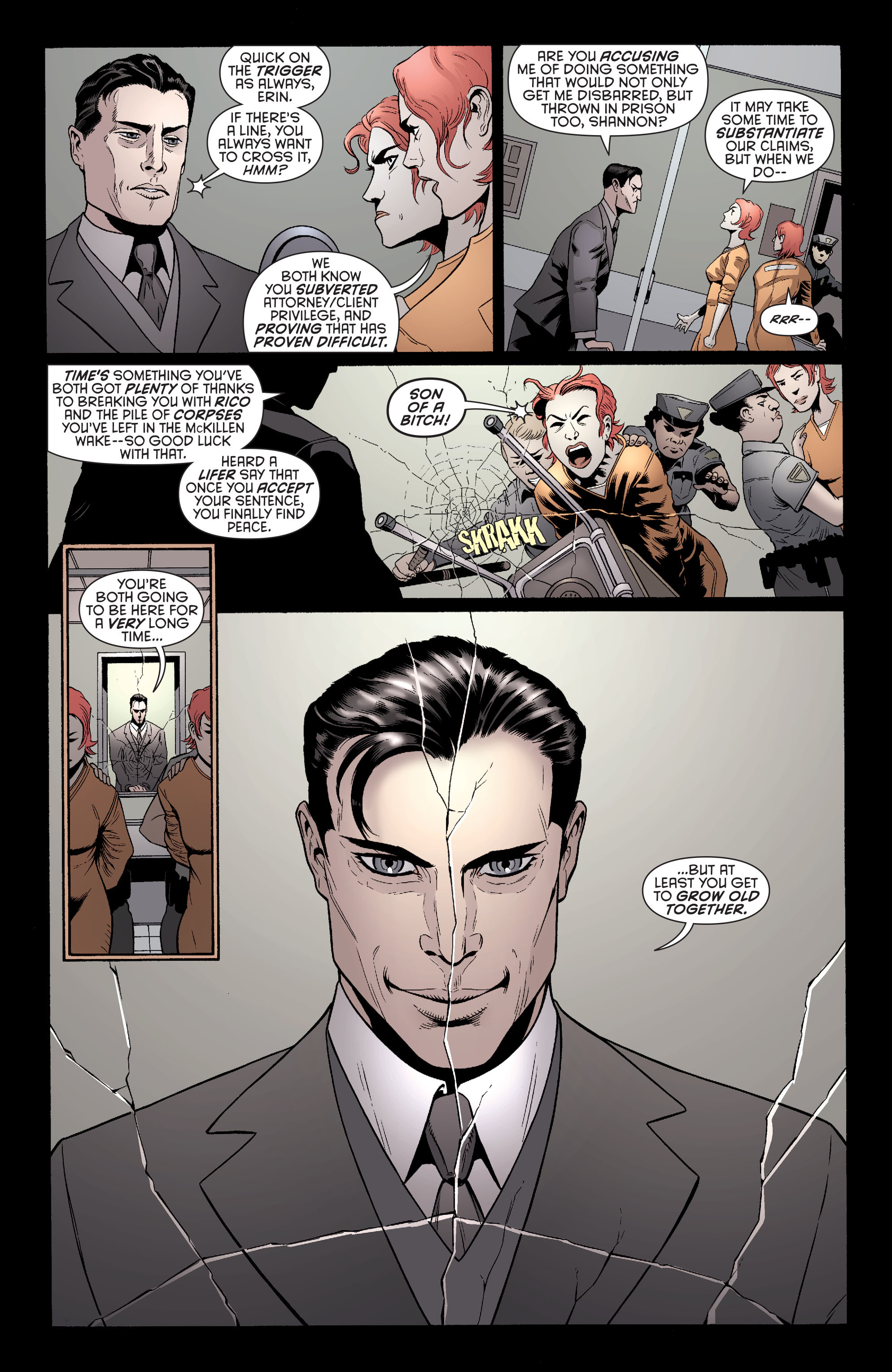 Read online Batman and Robin (2011) comic -  Issue #26 - Batman and Two-Face - 8