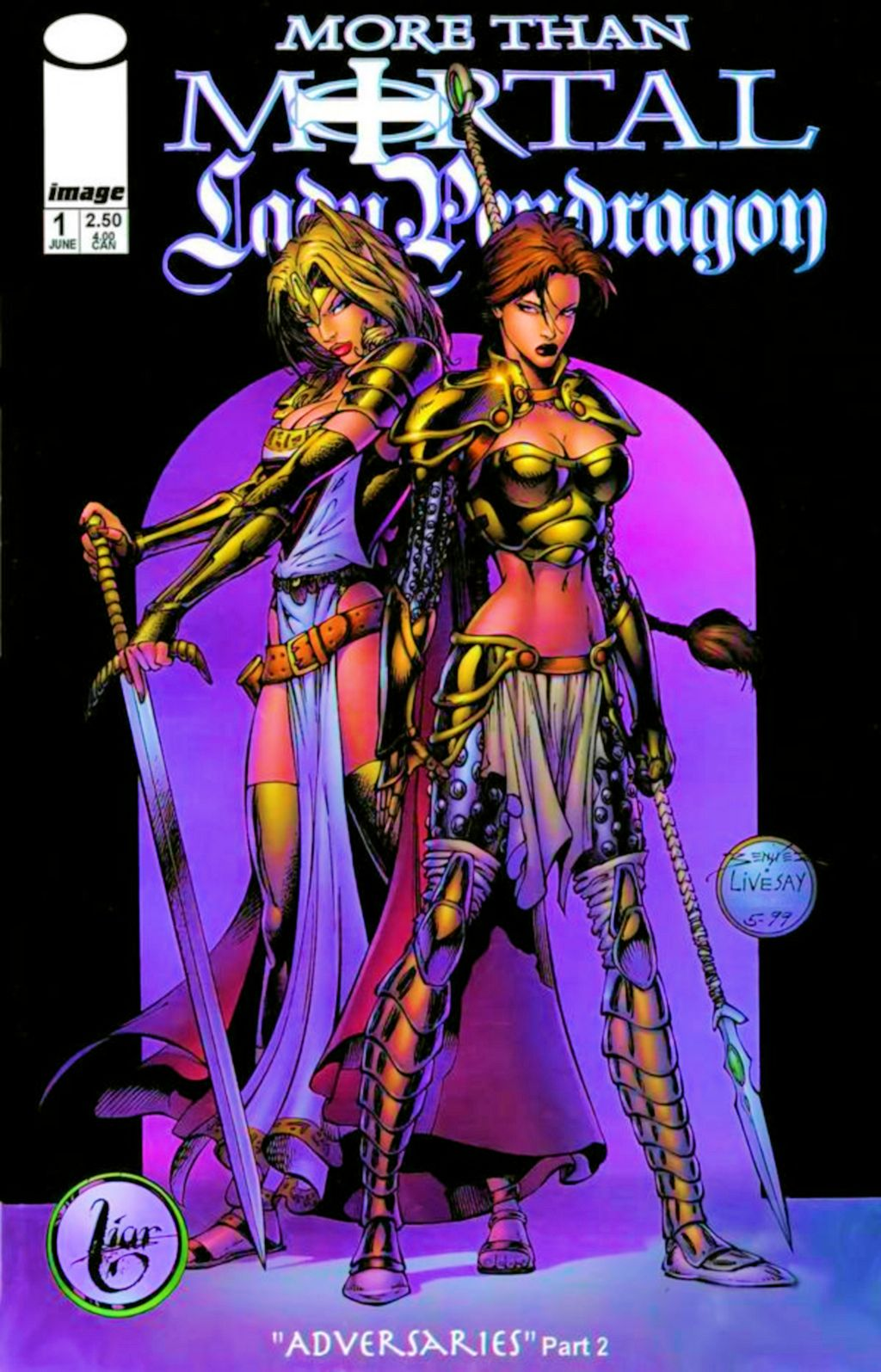 Read online Lady Pendragon / More Than Mortal comic -  Issue #1 - 2