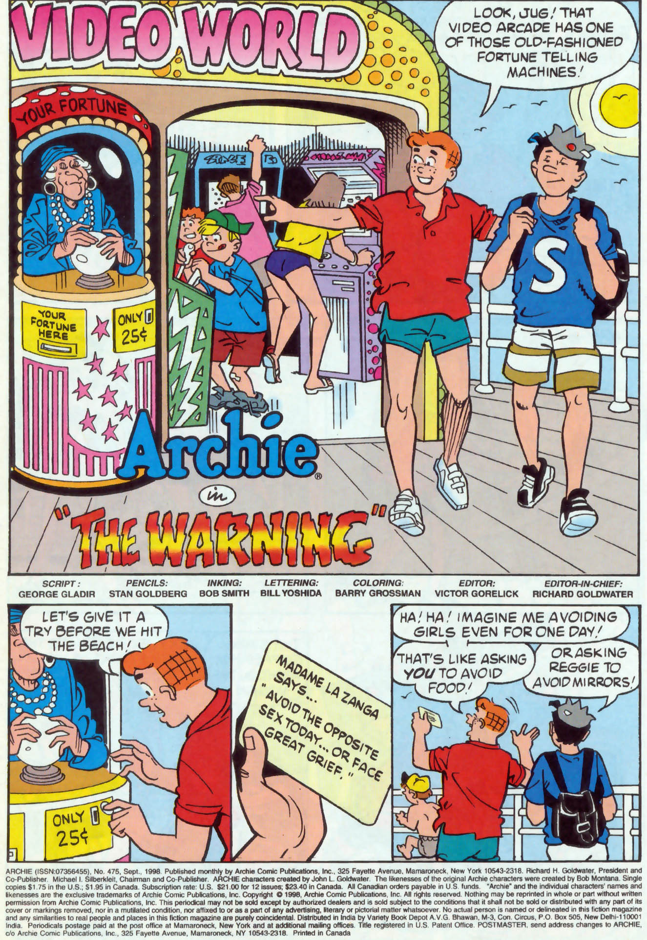 Read online Archie (1960) comic -  Issue #475 - 2