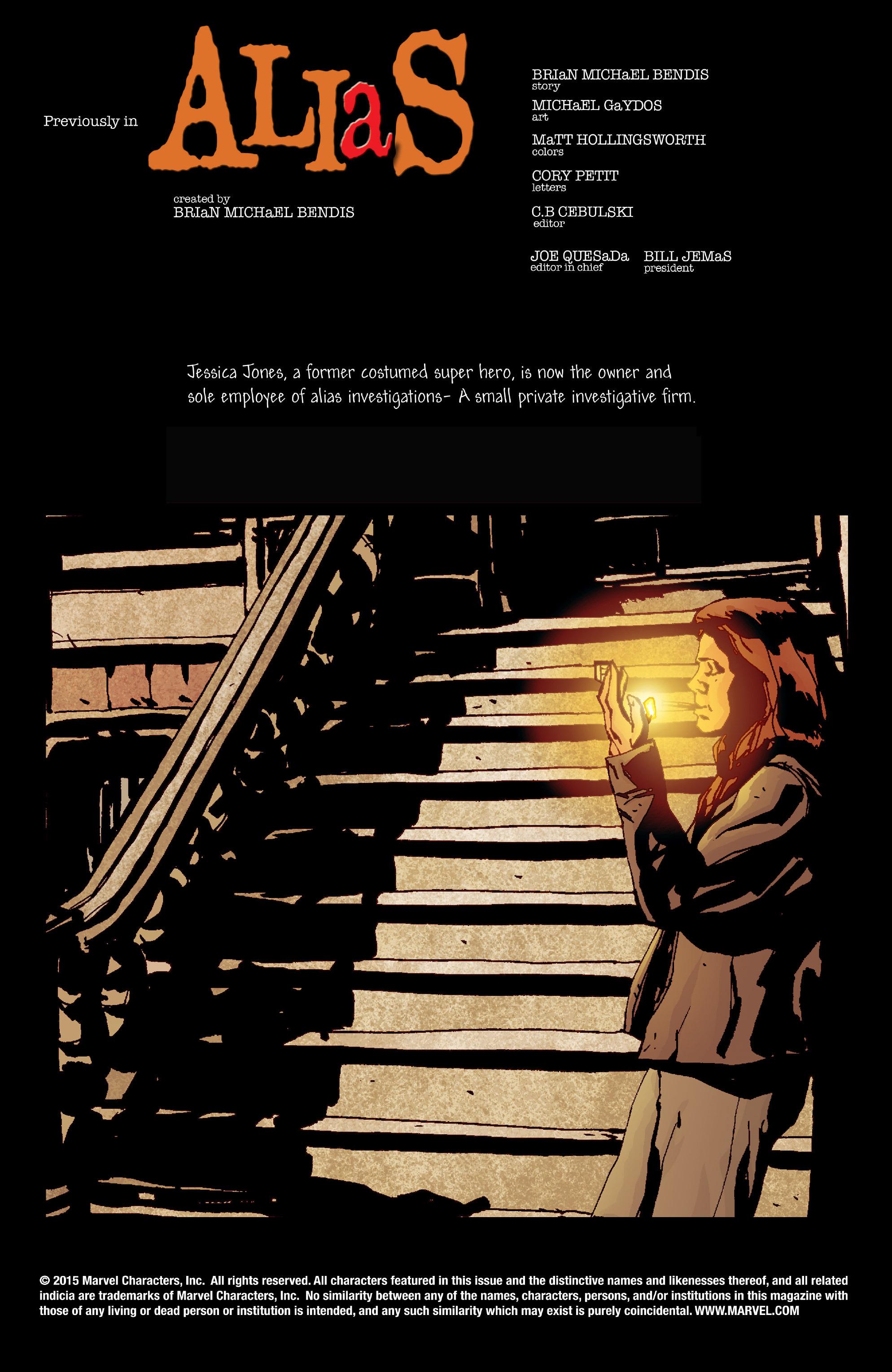 Read online Alias comic -  Issue #18 - 2