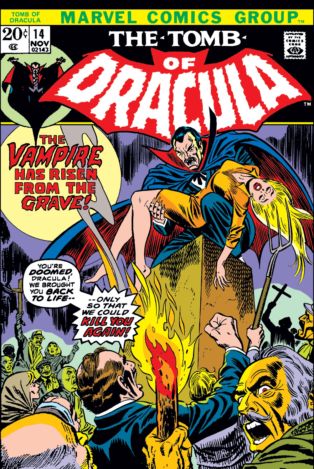 Tomb of Dracula (1972) issue 14 - Page 1