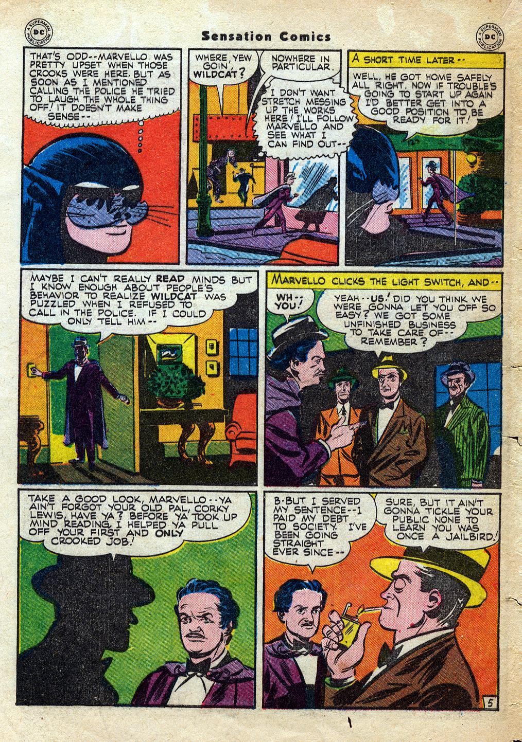 Read online Sensation (Mystery) Comics comic -  Issue #60 - 46
