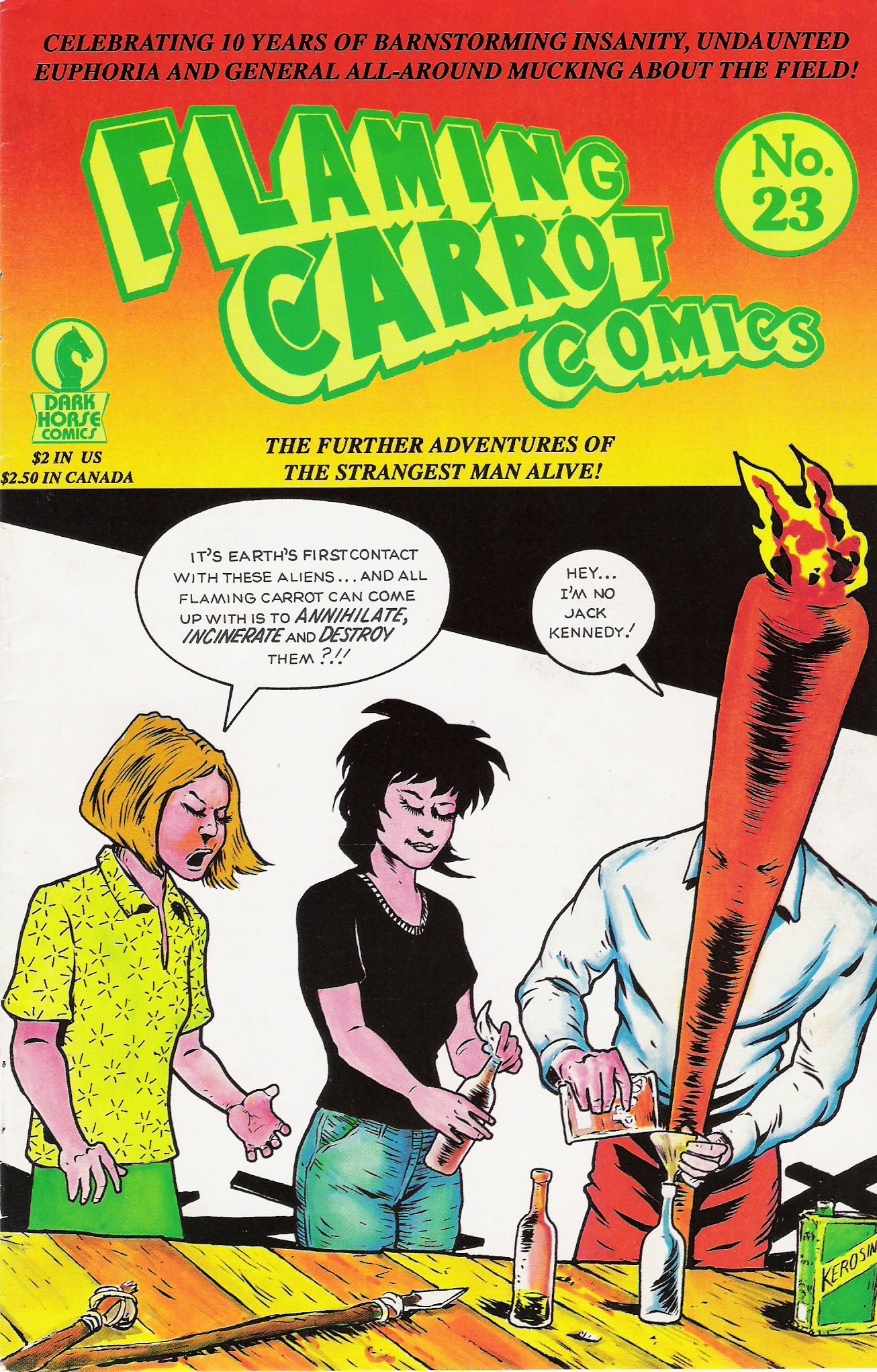 Read online Flaming Carrot Comics (1988) comic -  Issue #23 - 1