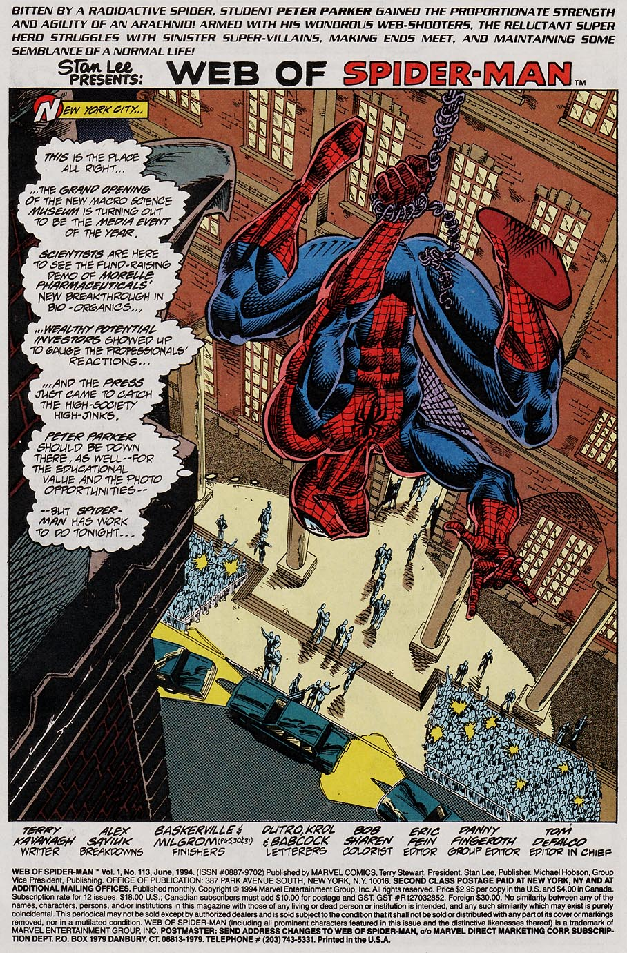 Web of Spider-Man (1985) Issue #113 #123 - English 2