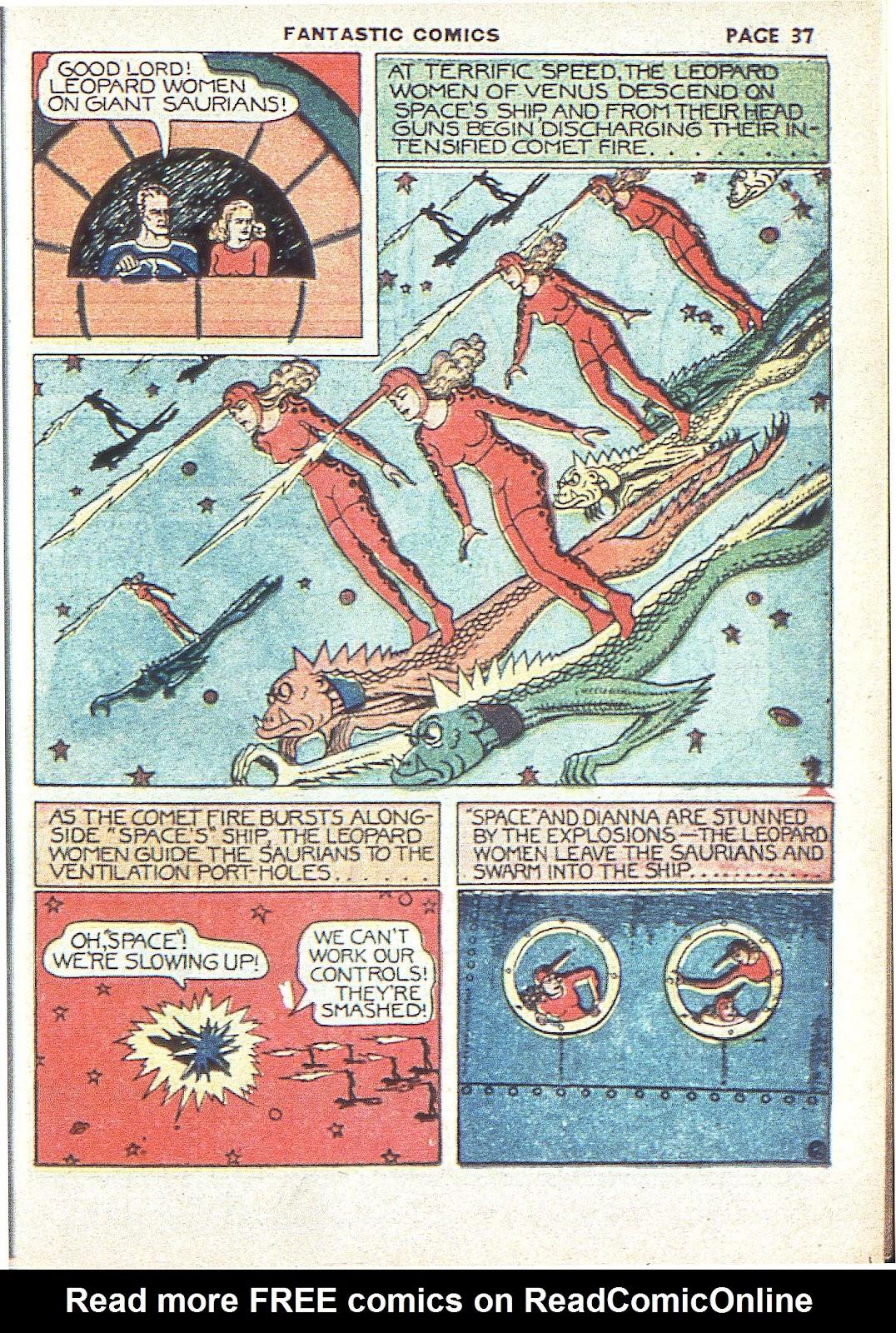 Read online Fantastic Comics comic -  Issue #3 - 39