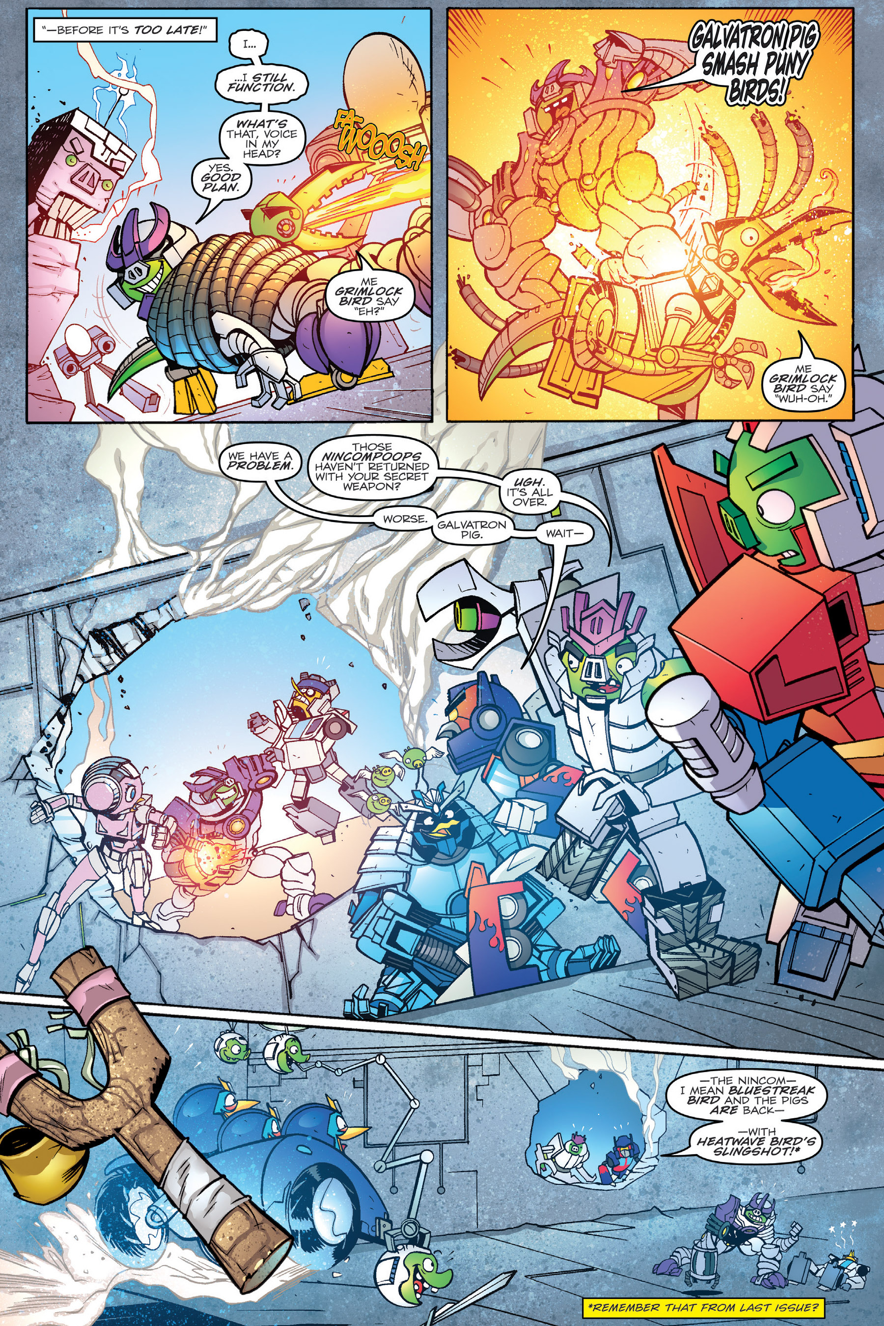 Read online Angry Birds Transformers: Age of Eggstinction comic -  Issue # Full - 81