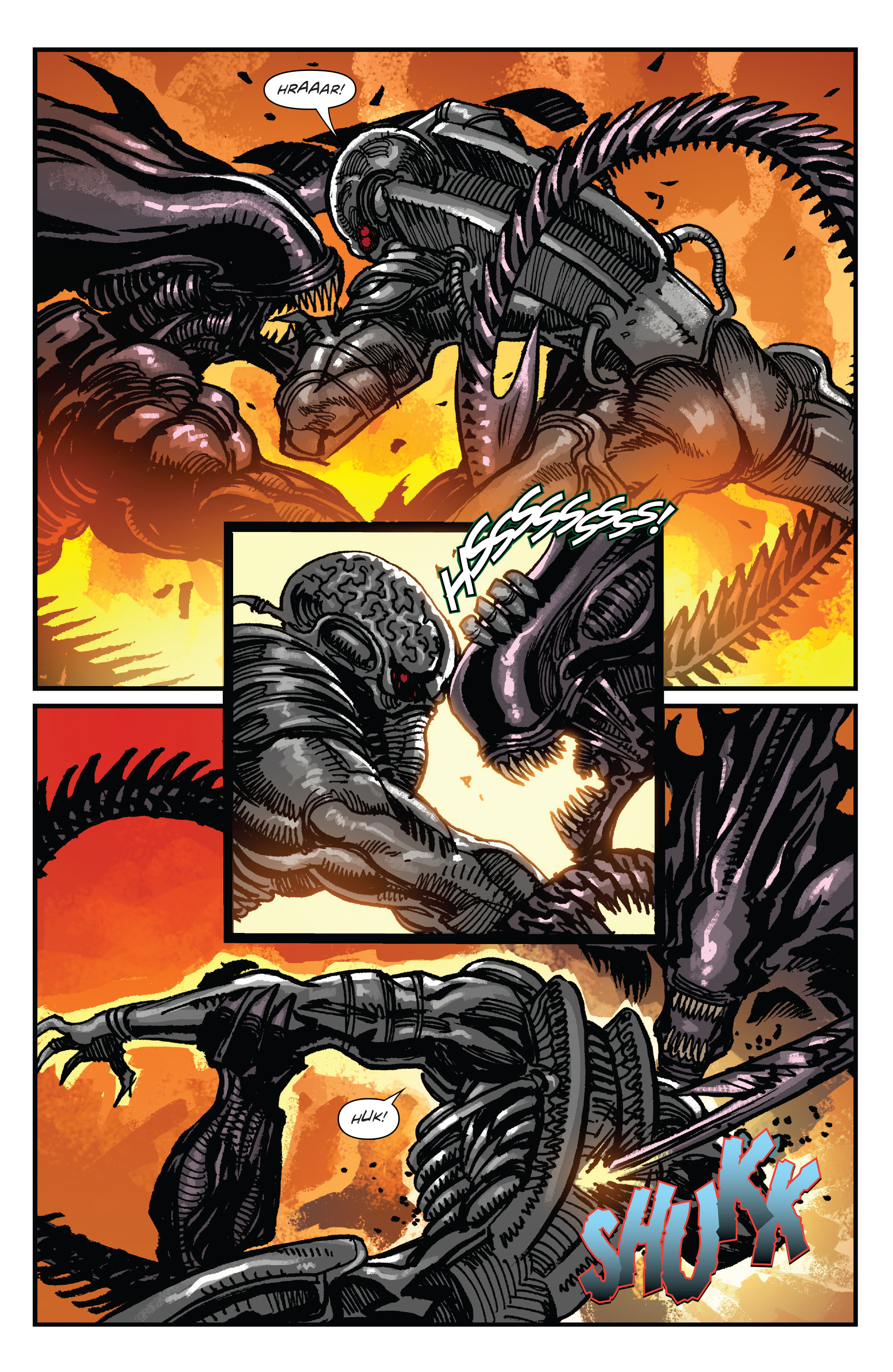 Read online Aliens: Life And Death comic -  Issue #4 - 21