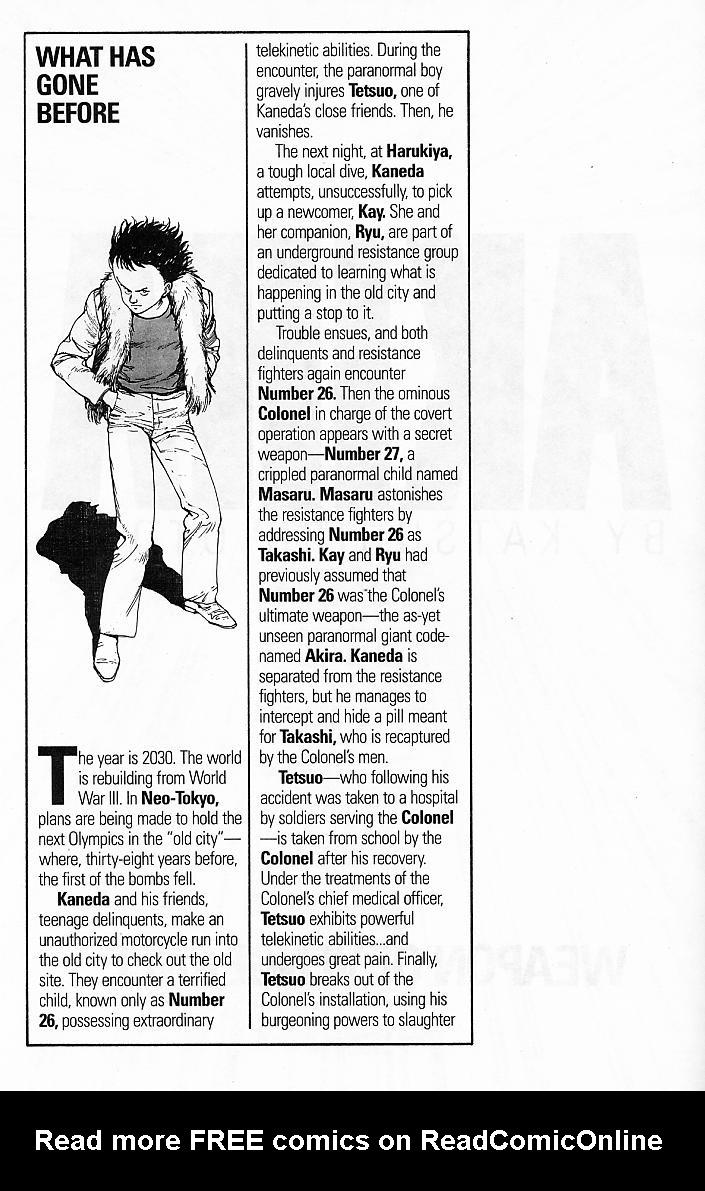 Read online Akira comic -  Issue #8 - 4