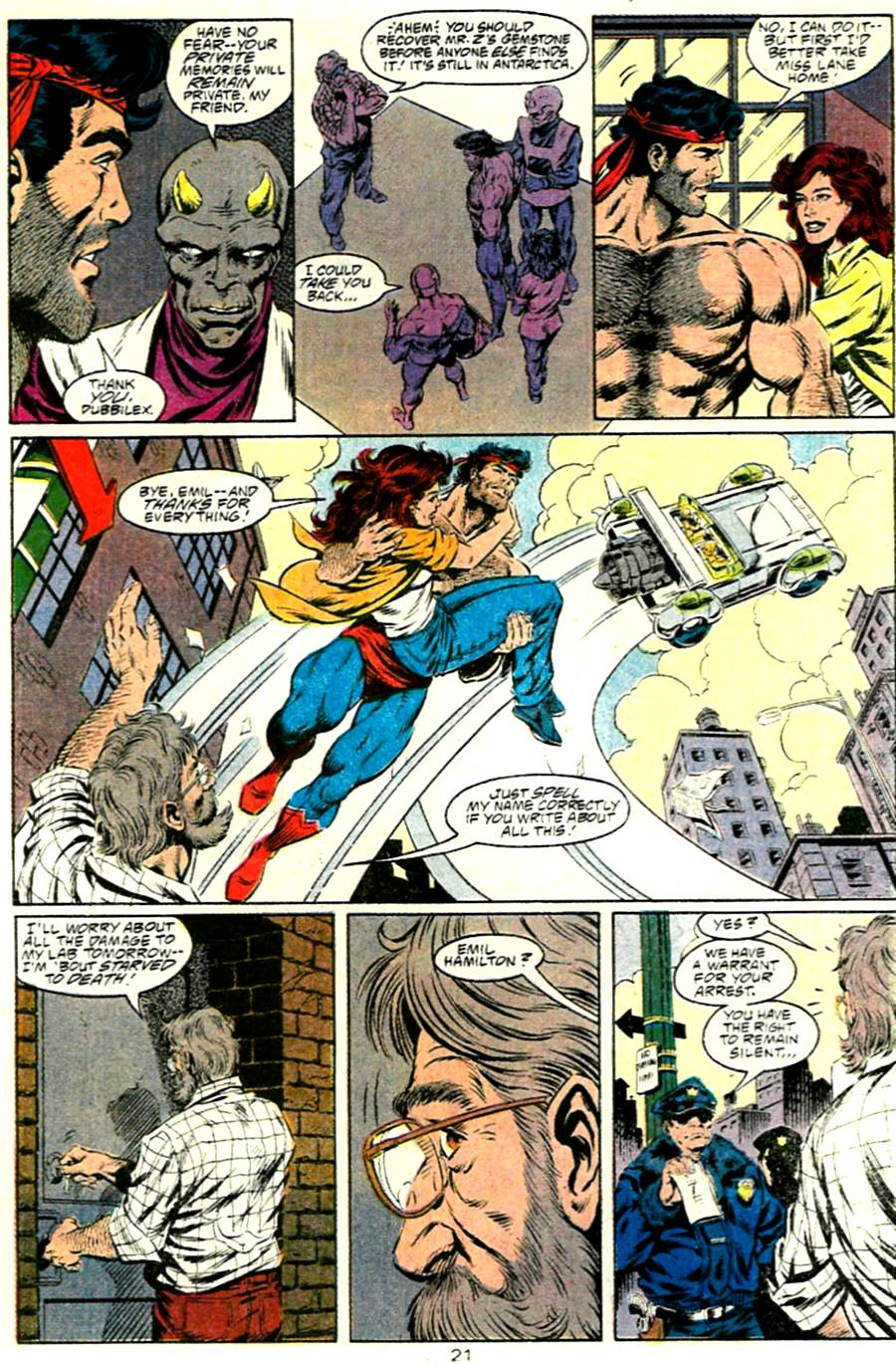 Read online Adventures of Superman (1987) comic -  Issue #485 - 22