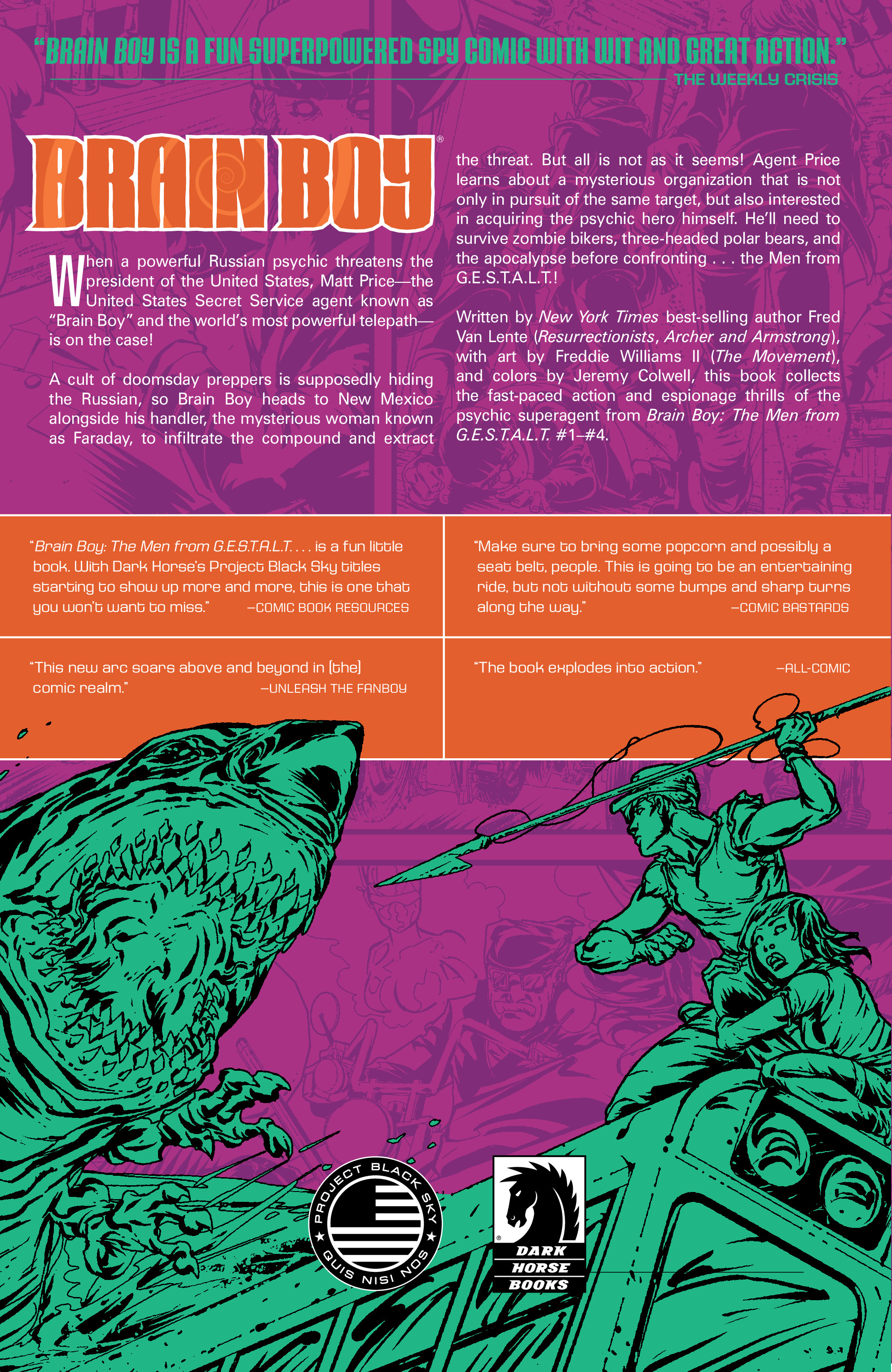 Read online Brain Boy:  The Men from G.E.S.T.A.L.T. comic -  Issue # TPB - 110