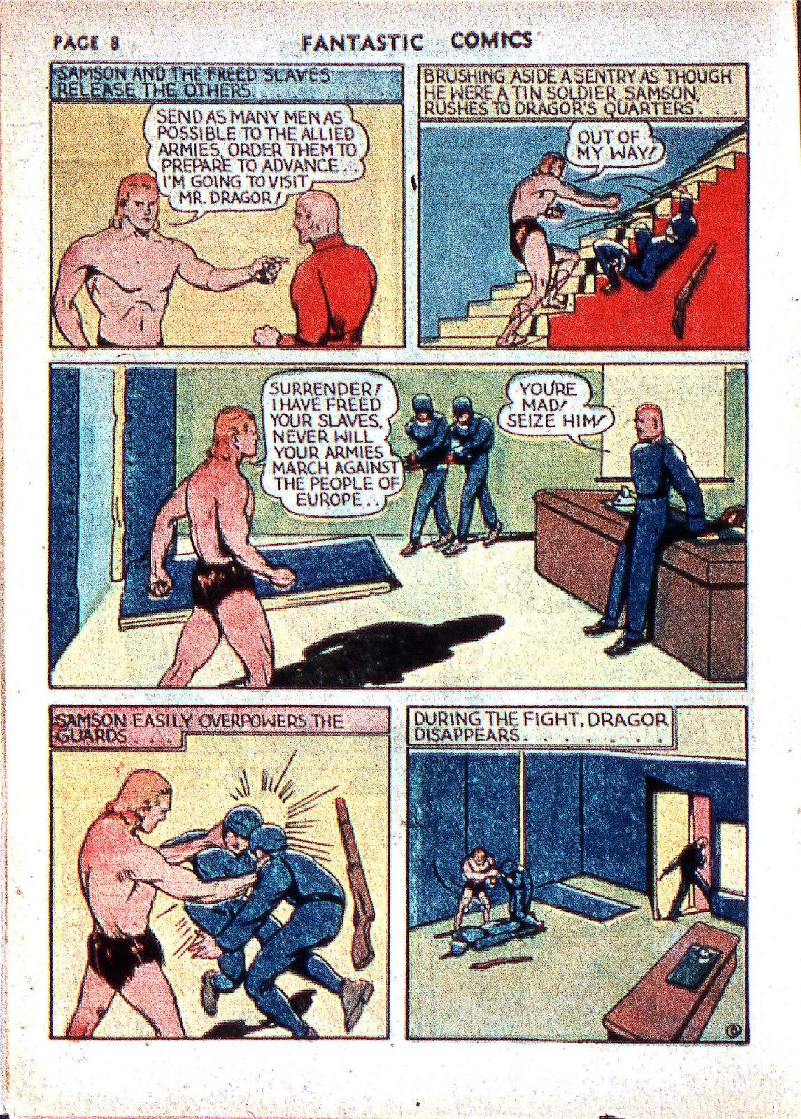 Read online Fantastic Comics comic -  Issue #2 - 10