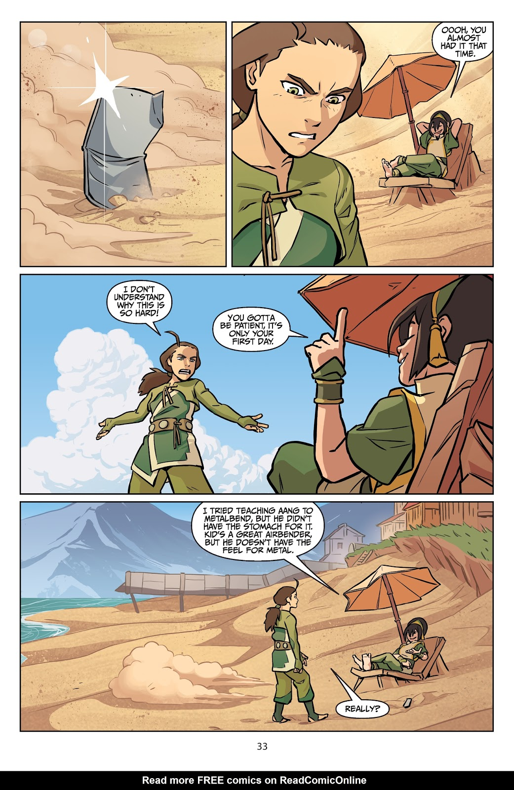 Read online Nickelodeon Avatar: The Last Airbender - Imbalance comic -  Issue # TPB 2 - 34