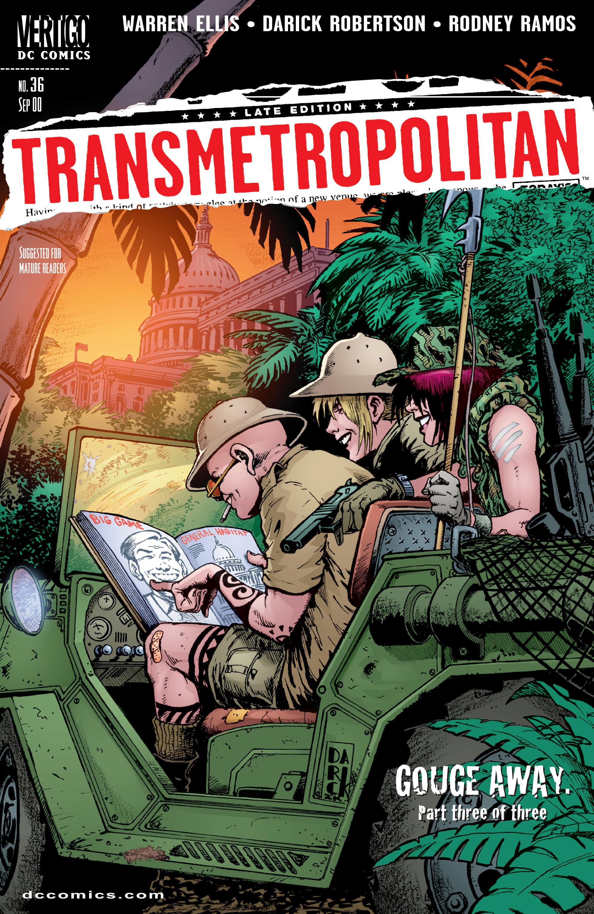 Read online Transmetropolitan comic -  Issue #36 - 1