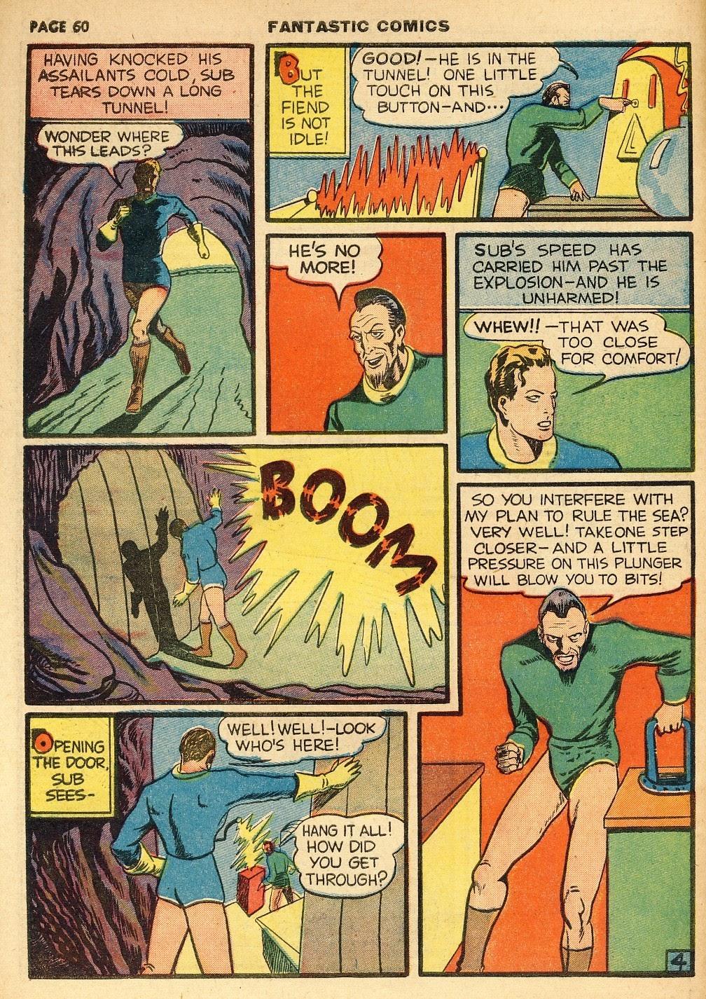 Read online Fantastic Comics comic -  Issue #10 - 61