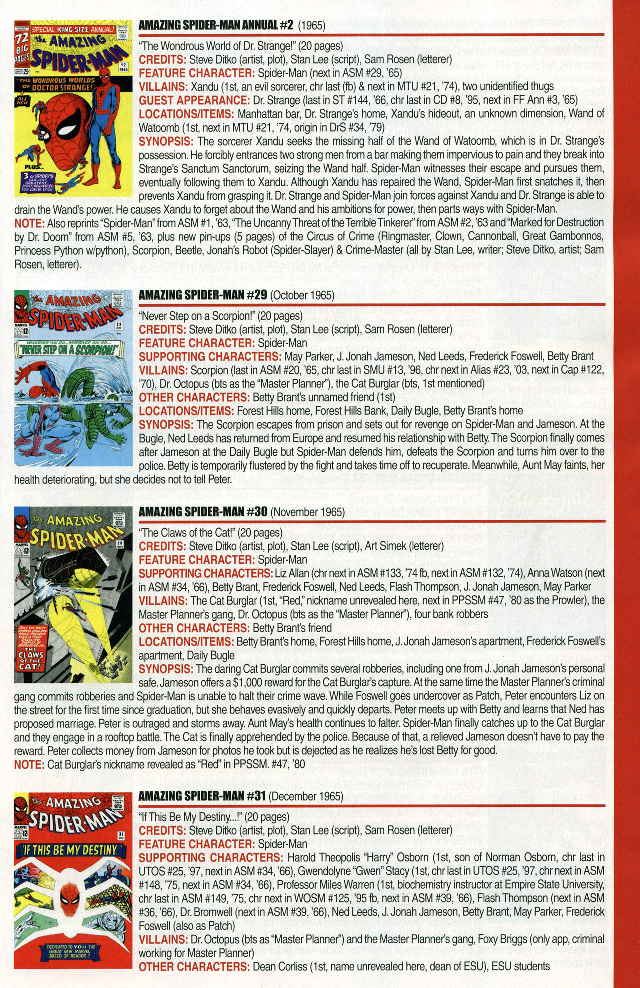 Read online Official Index to the Marvel Universe comic -  Issue #1 - 15