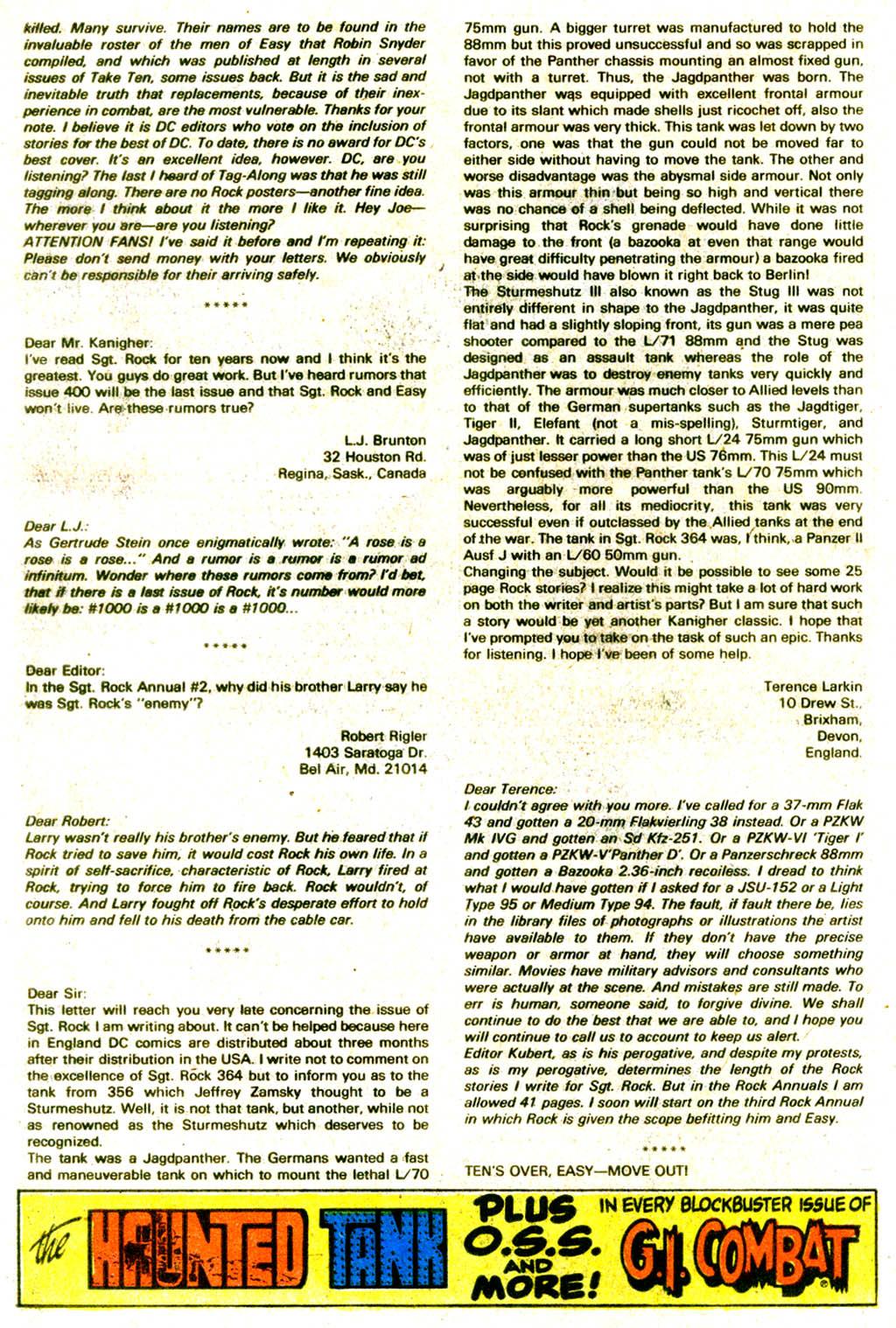 Read online Sgt. Rock comic -  Issue #375 - 33