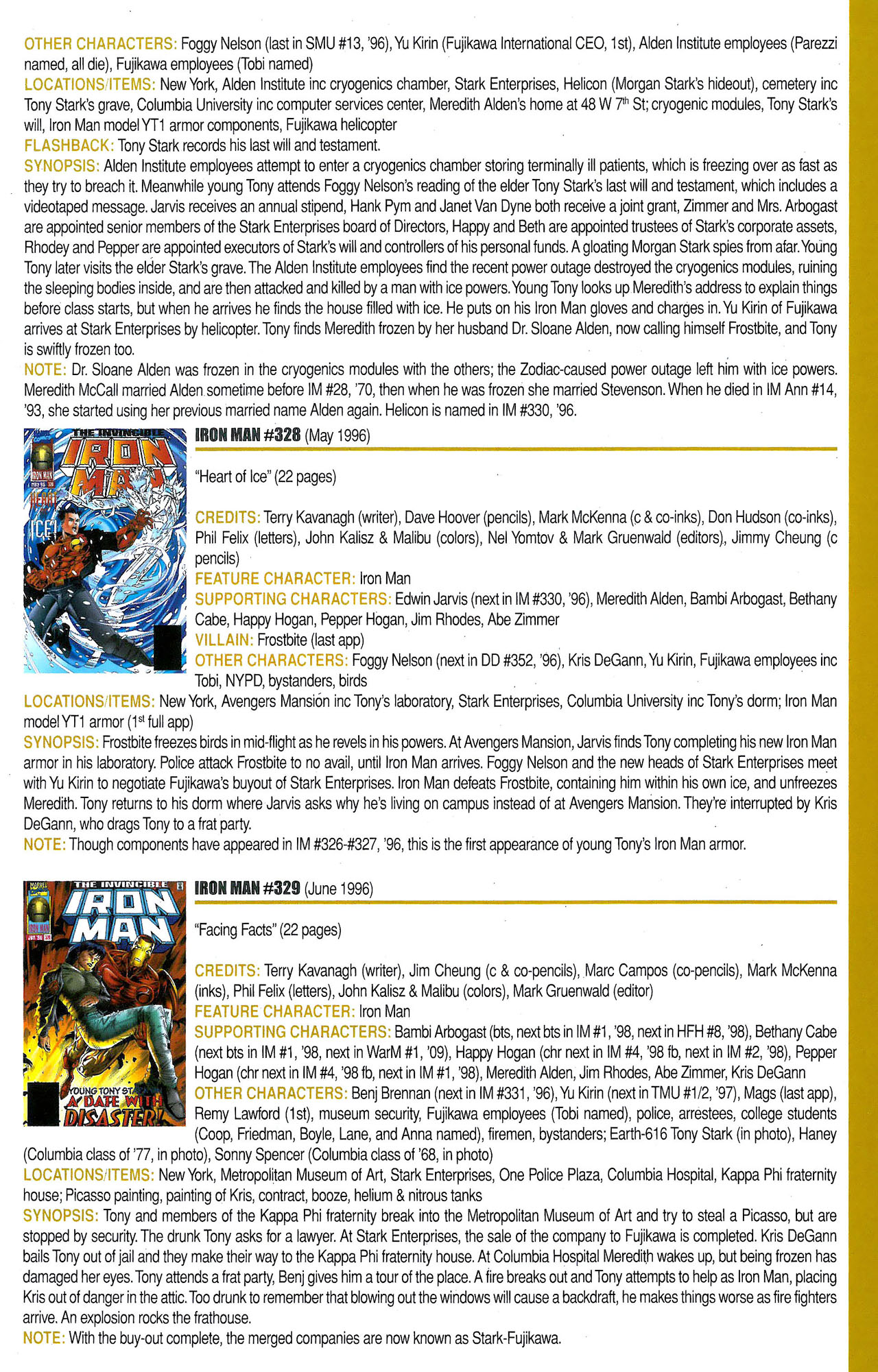 Read online Official Index to the Marvel Universe comic -  Issue #9 - 39