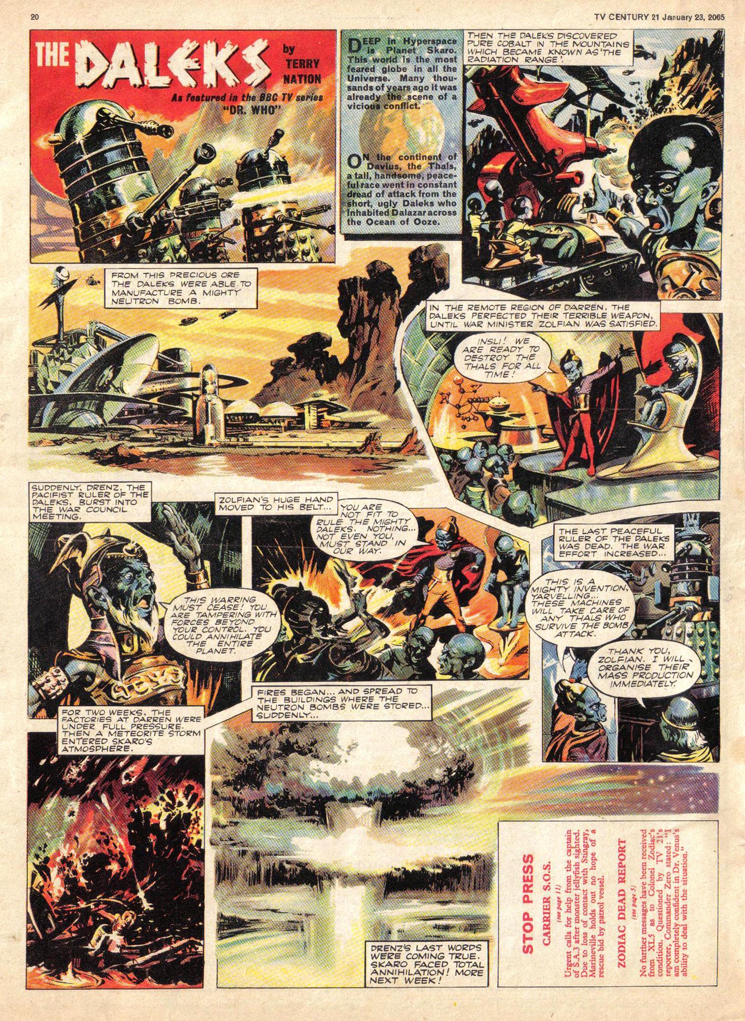 Read online TV Century 21 (TV 21) comic -  Issue #1 - 19