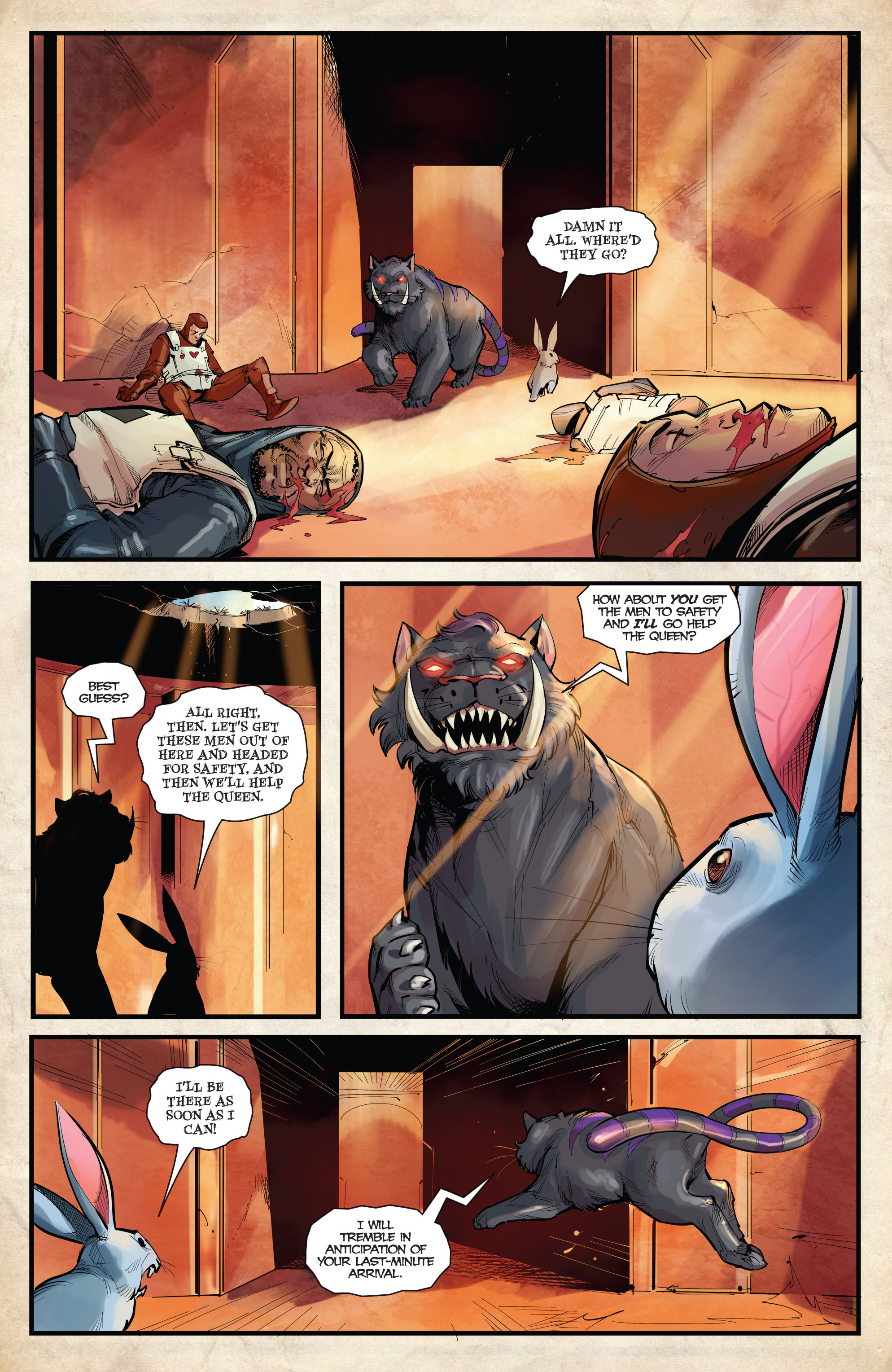 Read online Grimm Fairy Tales vs. Wonderland comic -  Issue #4 - 9