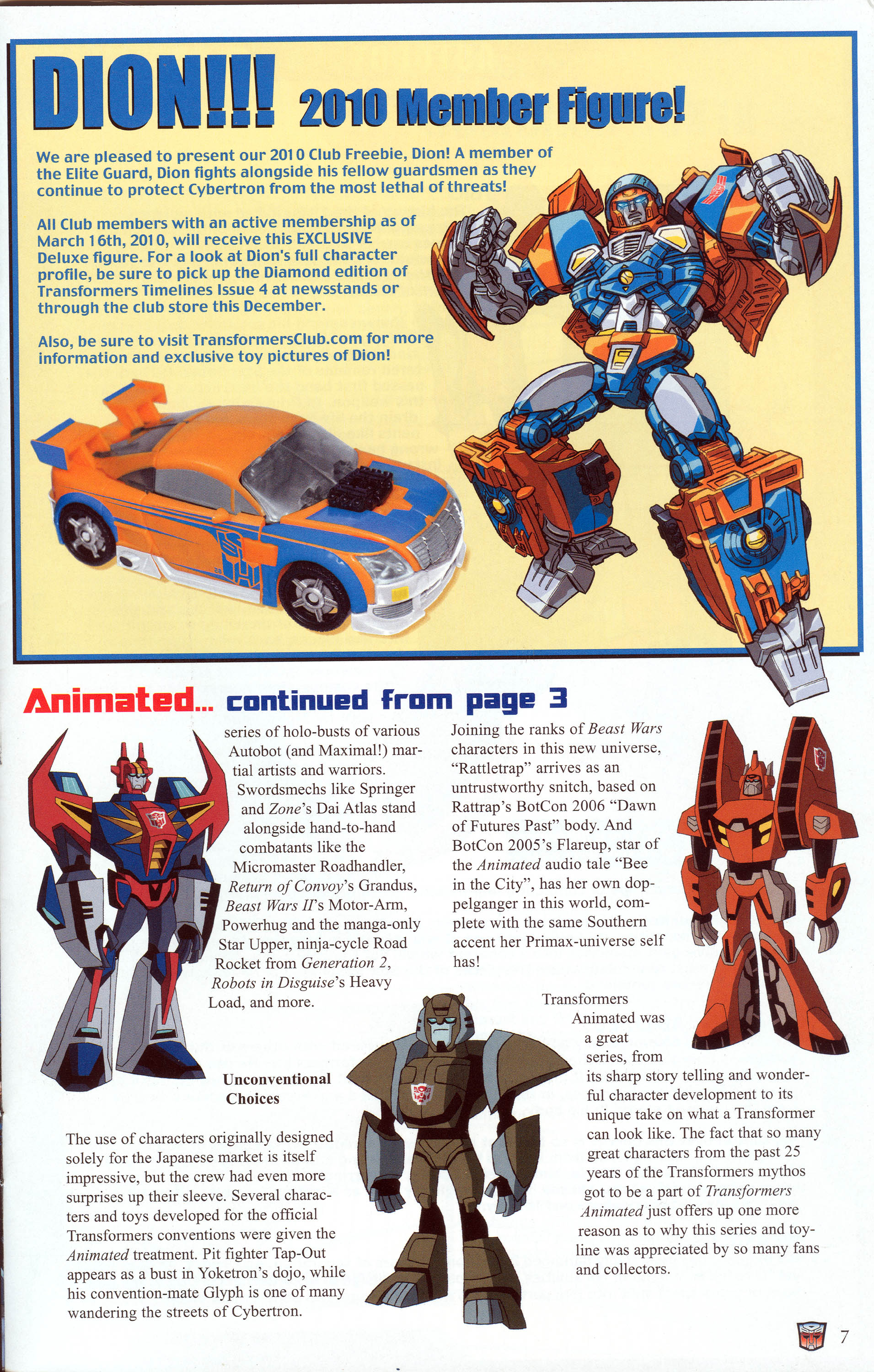 Read online Transformers: Collectors' Club comic -  Issue #30 - 7