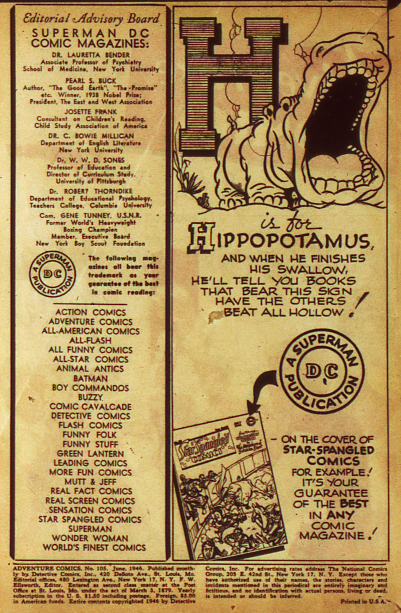 Read online Adventure Comics (1938) comic -  Issue #105 - 2