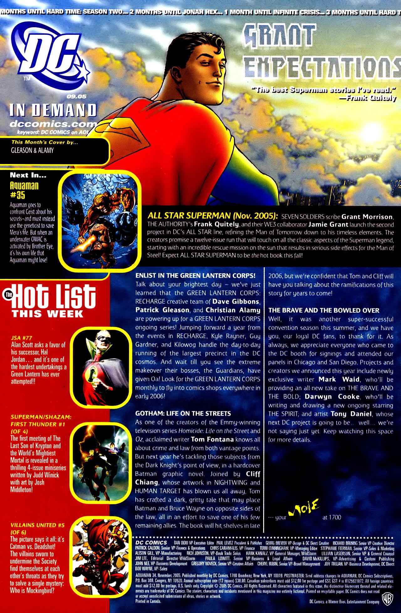 Read online Aquaman (2003) comic -  Issue #34 - 24