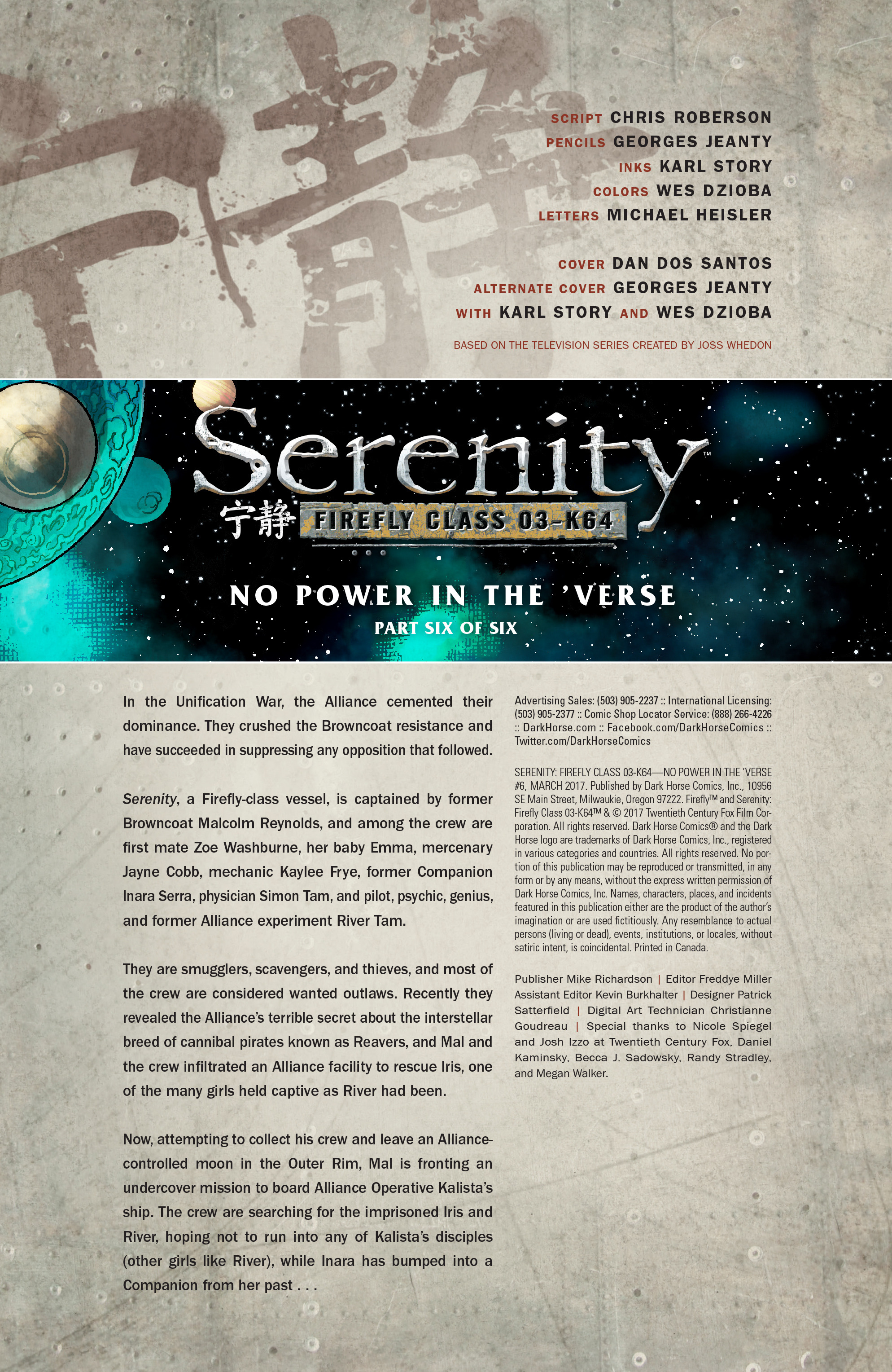 Read online Serenity: Firefly Class 03-K64 – No Power in the 'Verse comic -  Issue #6 - 3