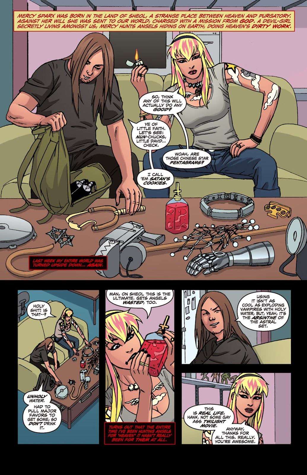 Read online Mercy Sparx (2008) comic -  Issue #4 - 2