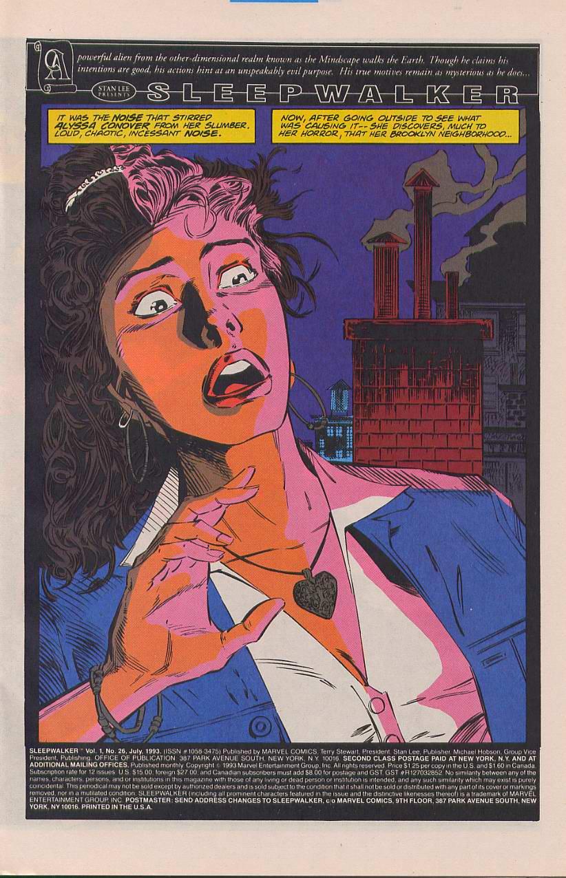 Read online Sleepwalker comic -  Issue #26 - 2