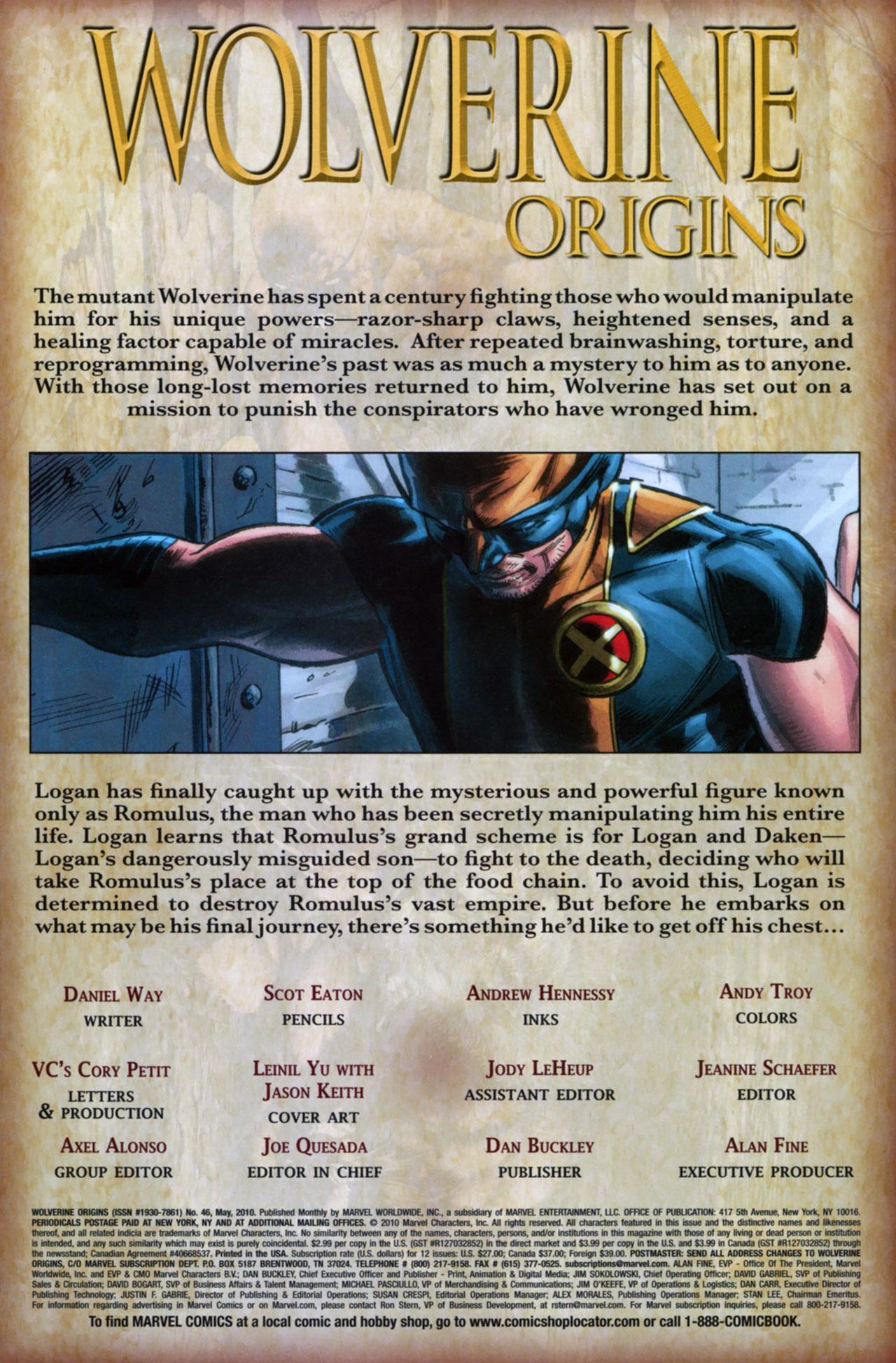 Read online Wolverine: Origins comic -  Issue #46 - 2