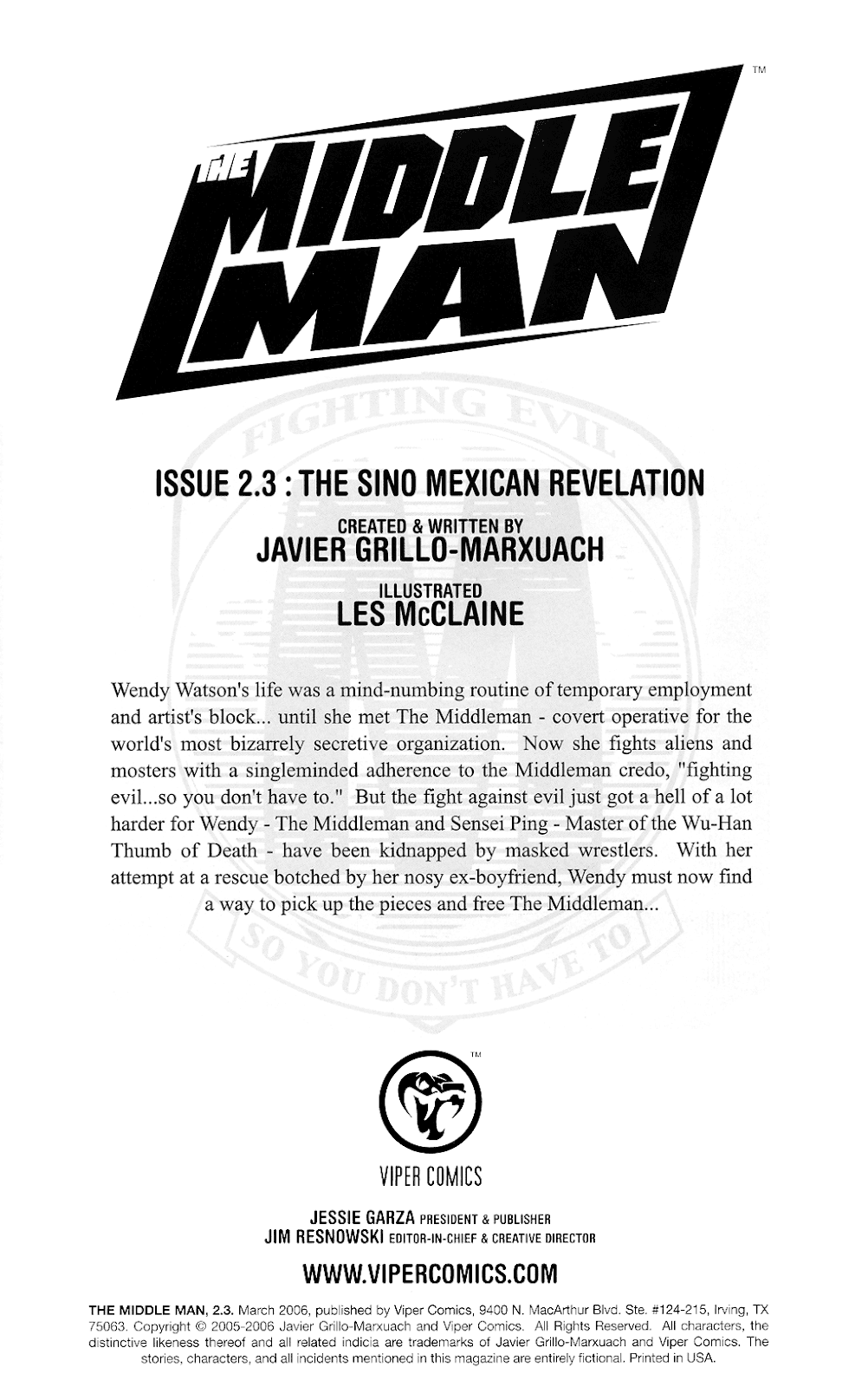 Read online The Middleman (2006) comic -  Issue #3 - 2
