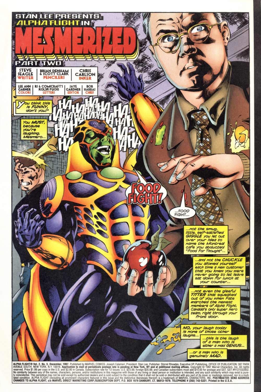 Read online Alpha Flight (1997) comic -  Issue #5 - 3