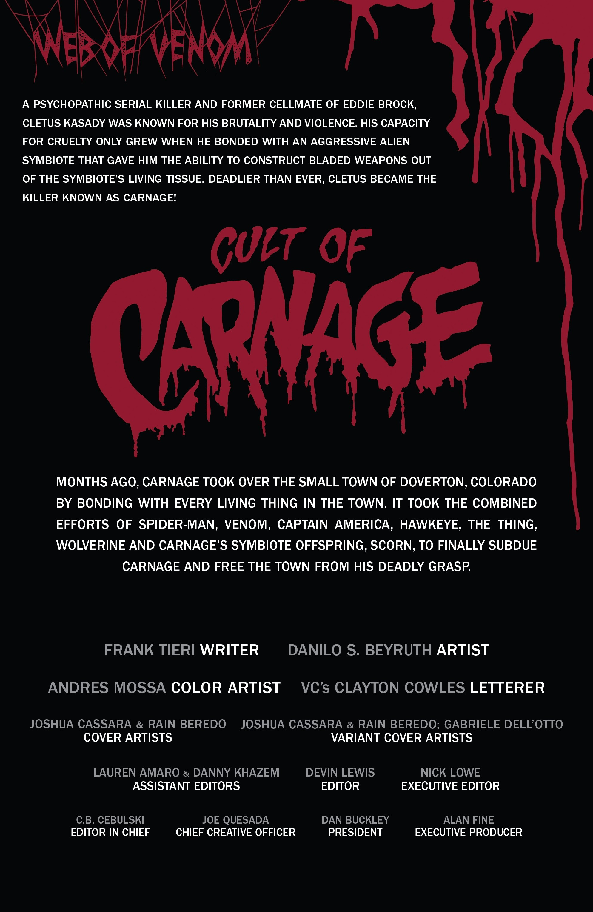 Web of Venom: Cult of Carnage Full Page 2