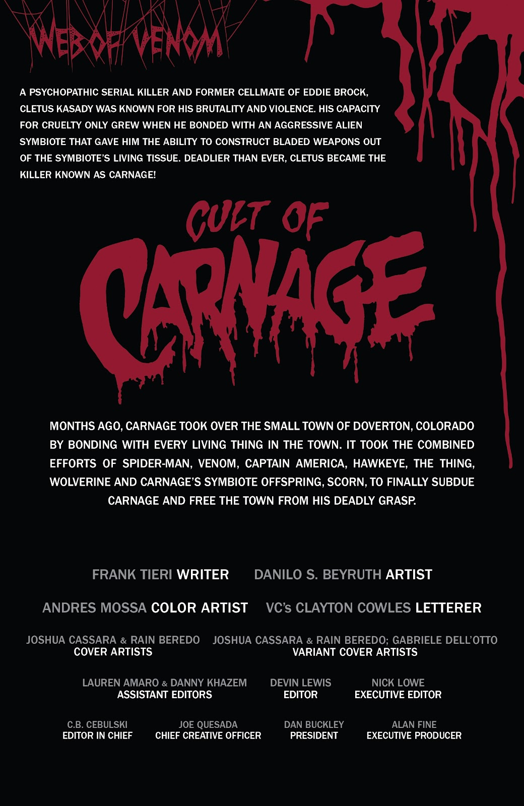 Read online Web of Venom: Cult of Carnage comic -  Issue # Full - 2