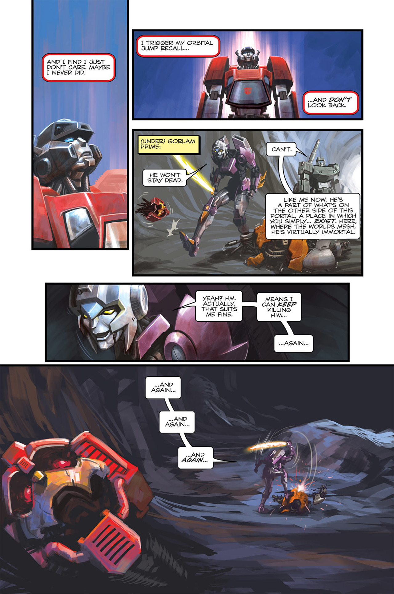 Read online Transformers Spotlight: Sideswipe comic -  Issue # Full - 25