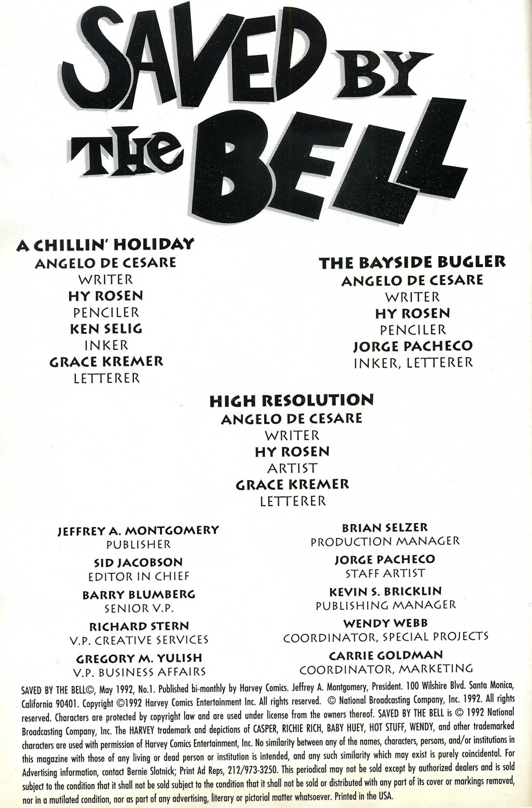 Read online Saved By The Bell comic -  Issue #1 - 2