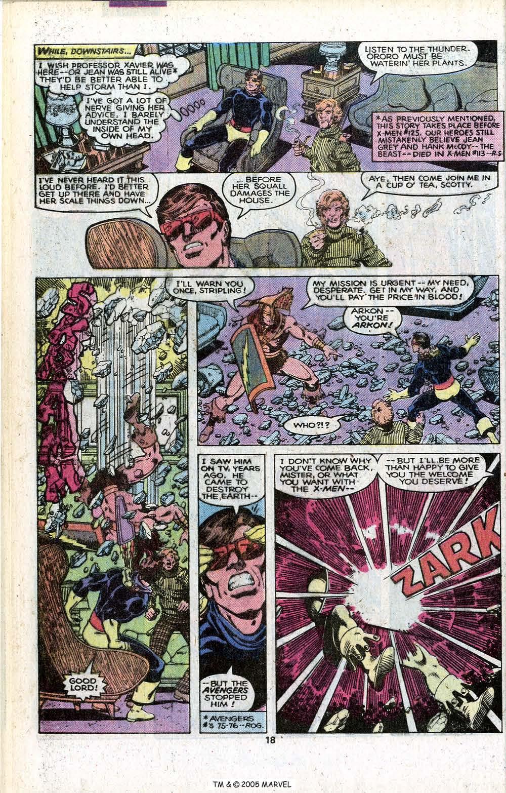 Read online Uncanny X-Men (1963) comic -  Issue # _Annual 3 - 20