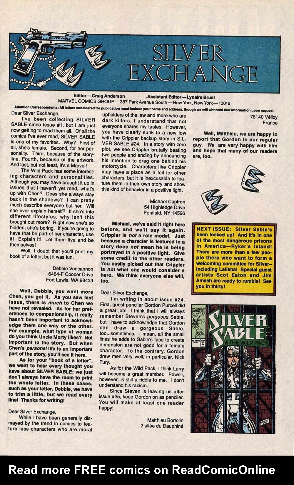 Read online Silver Sable and the Wild Pack comic -  Issue #29 - 24