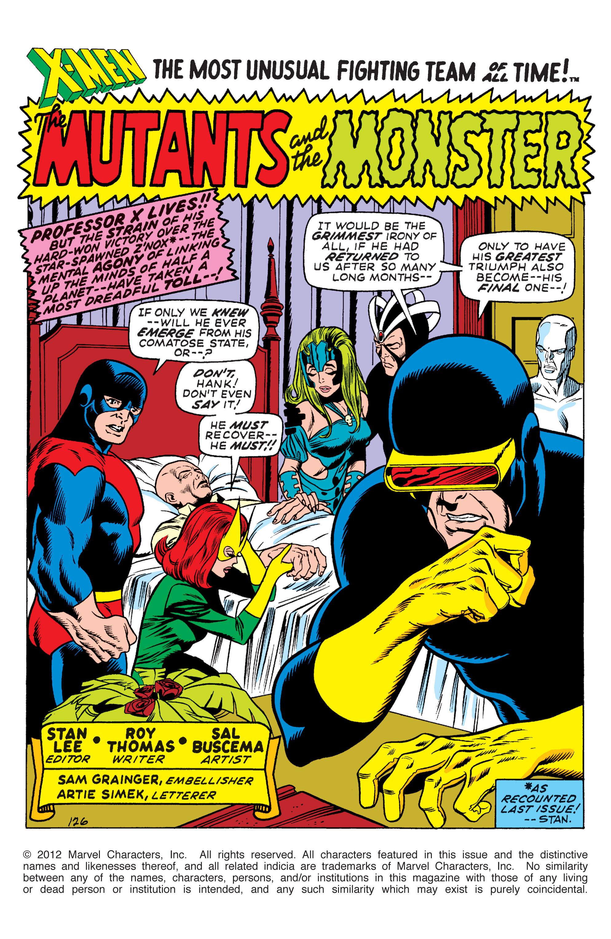 Uncanny X-Men (1963) 66 Page 1