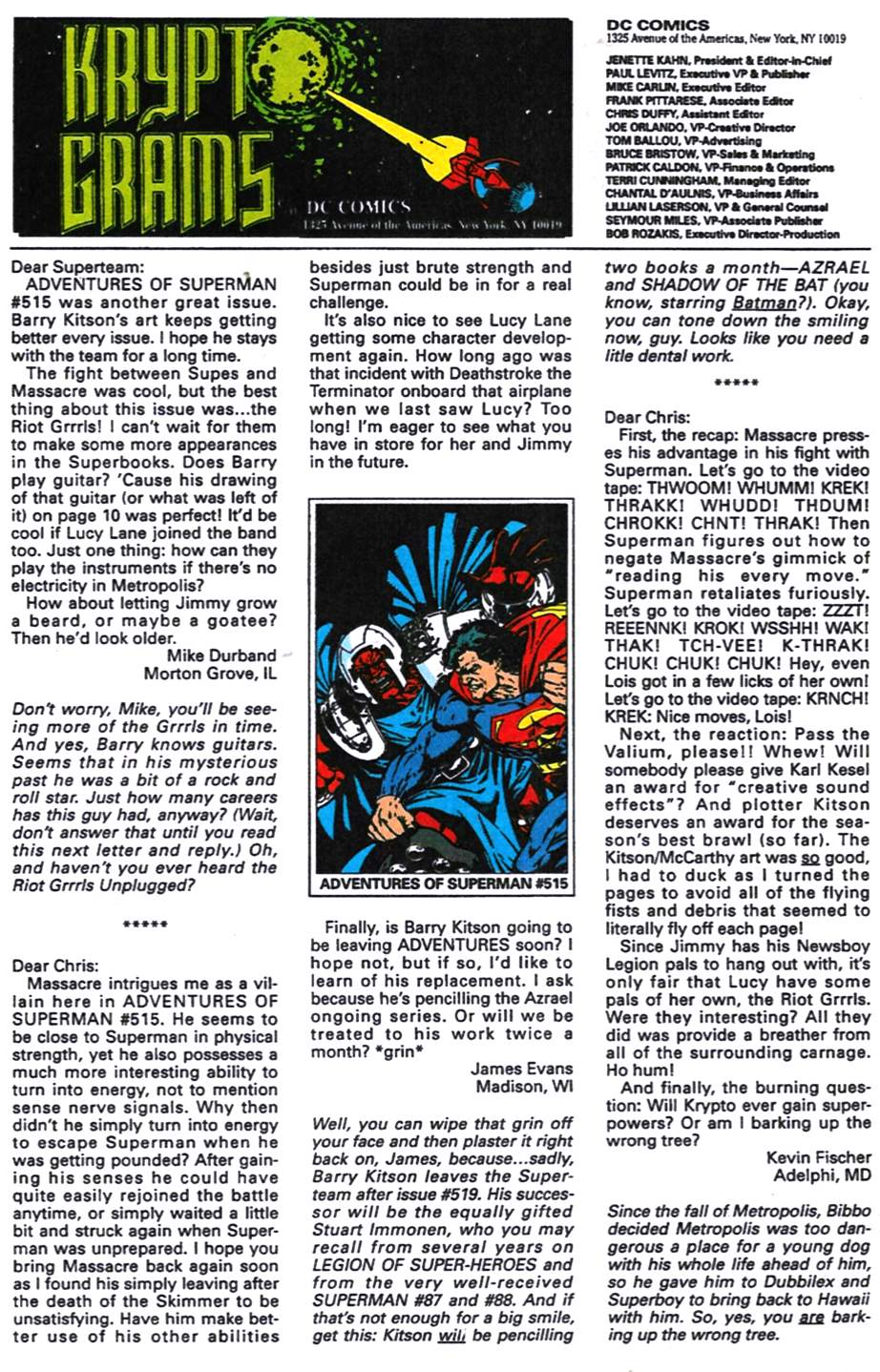 Read online Adventures of Superman (1987) comic -  Issue #518 - 24