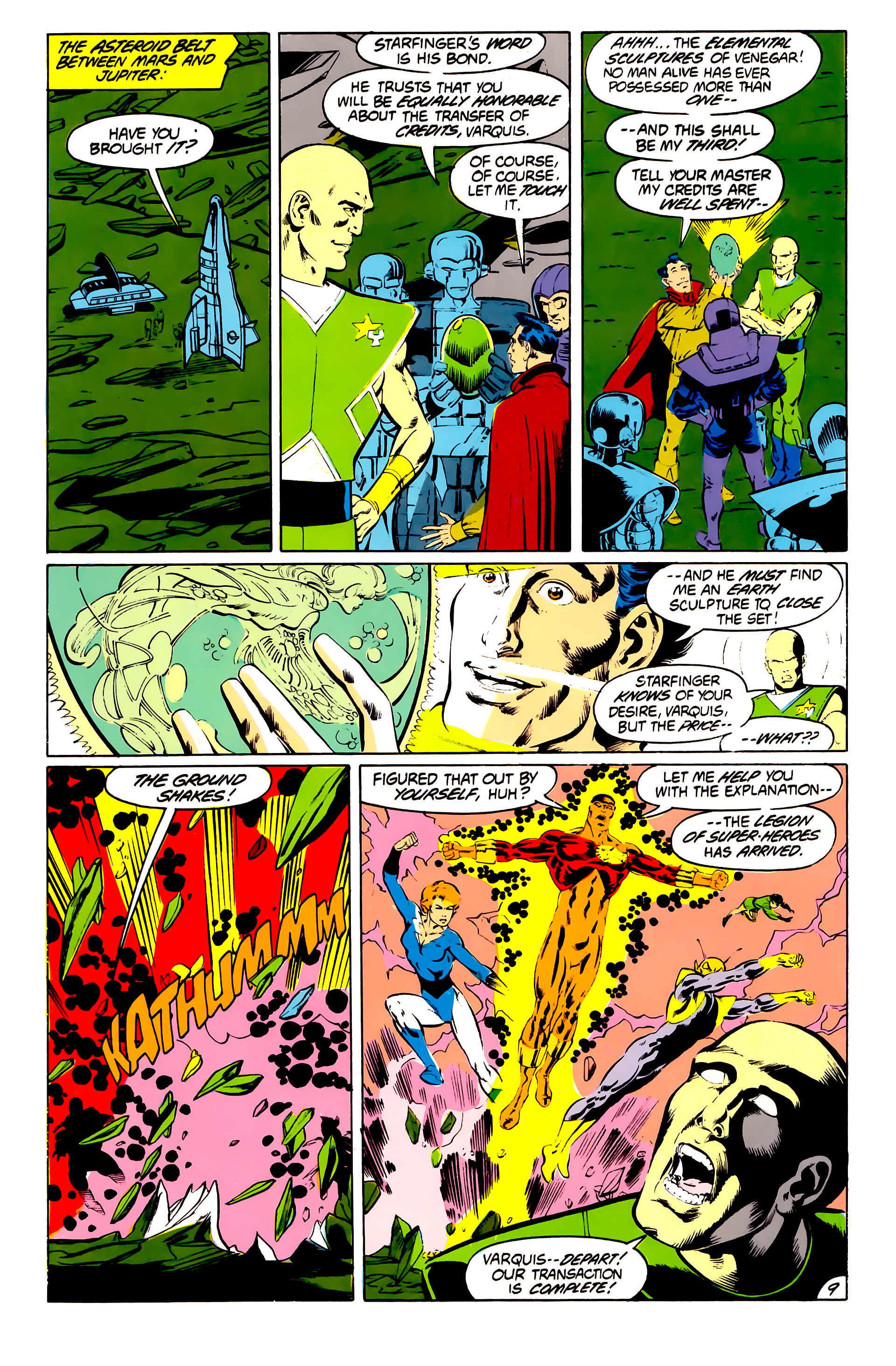 Legion of Super-Heroes (1984) 41 Page 9
