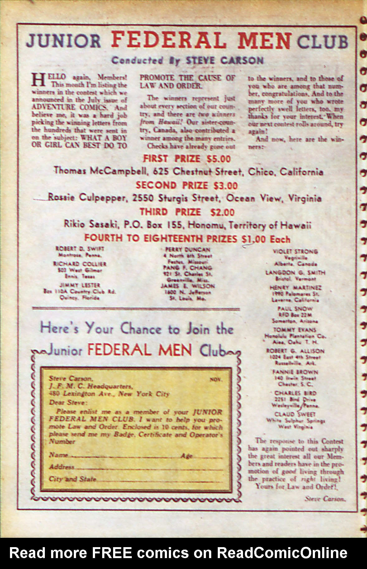 Read online Adventure Comics (1938) comic -  Issue #56 - 31