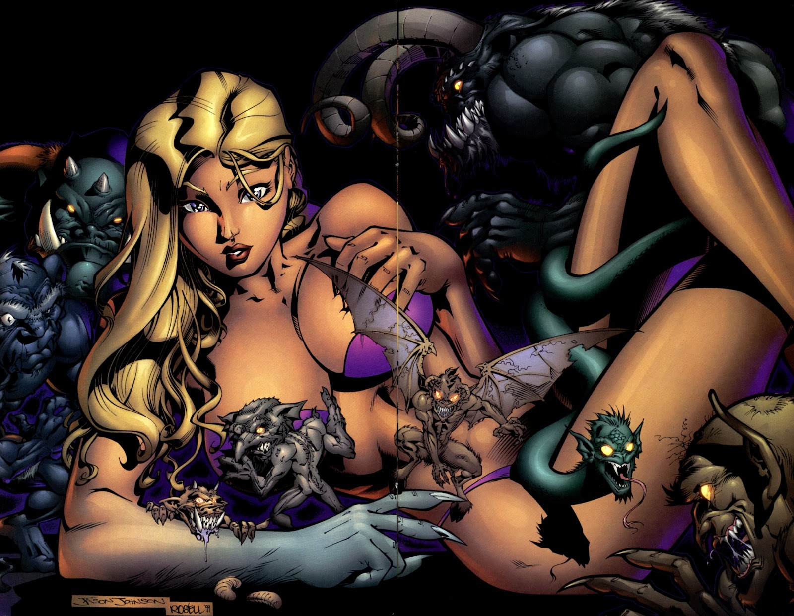 Read online Darkchylde Summer Swimsuit Spectacular comic -  Issue # Full - 13