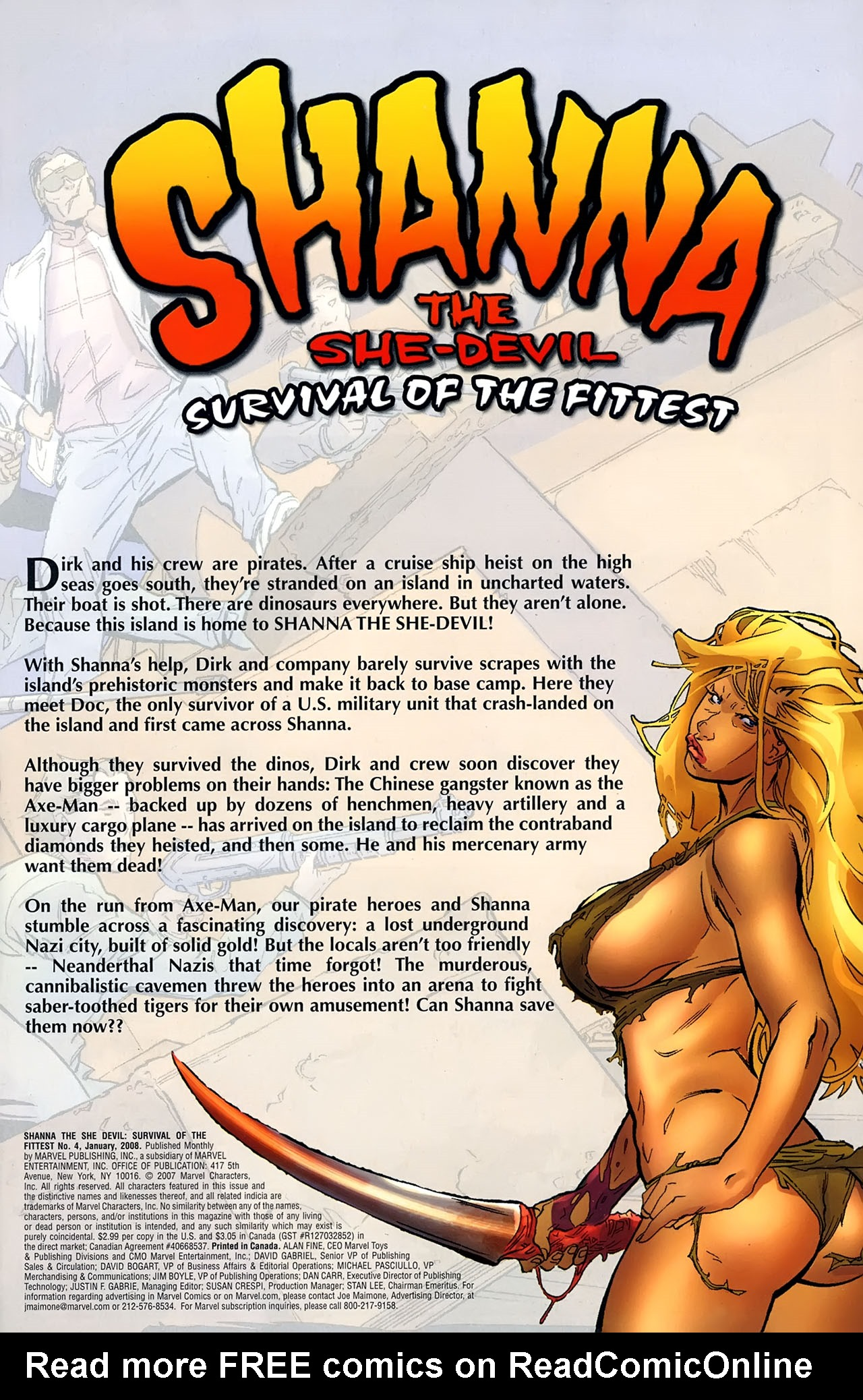 Read online Shanna the She-Devil: Survival of the Fittest comic -  Issue #4 - 2